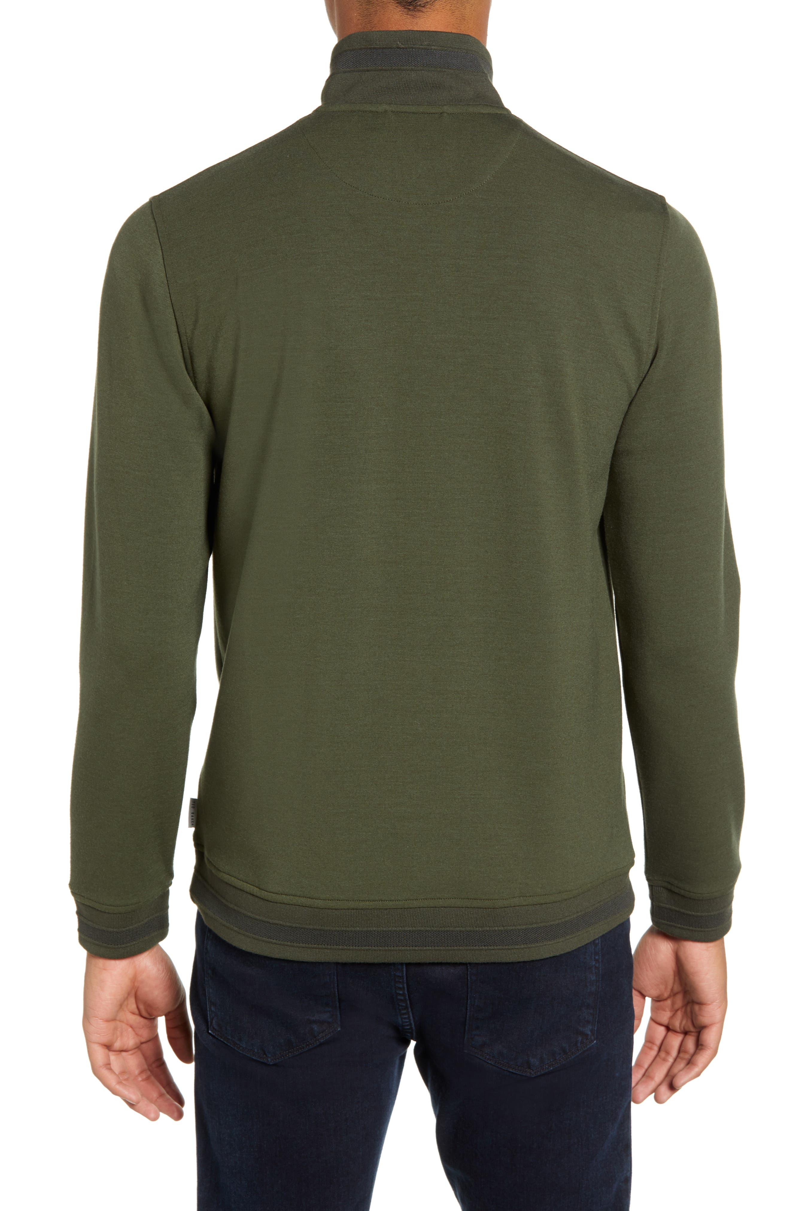 Leevit Quarter Zip Pullover,                             Alternate thumbnail 2, color,                             KHAKI