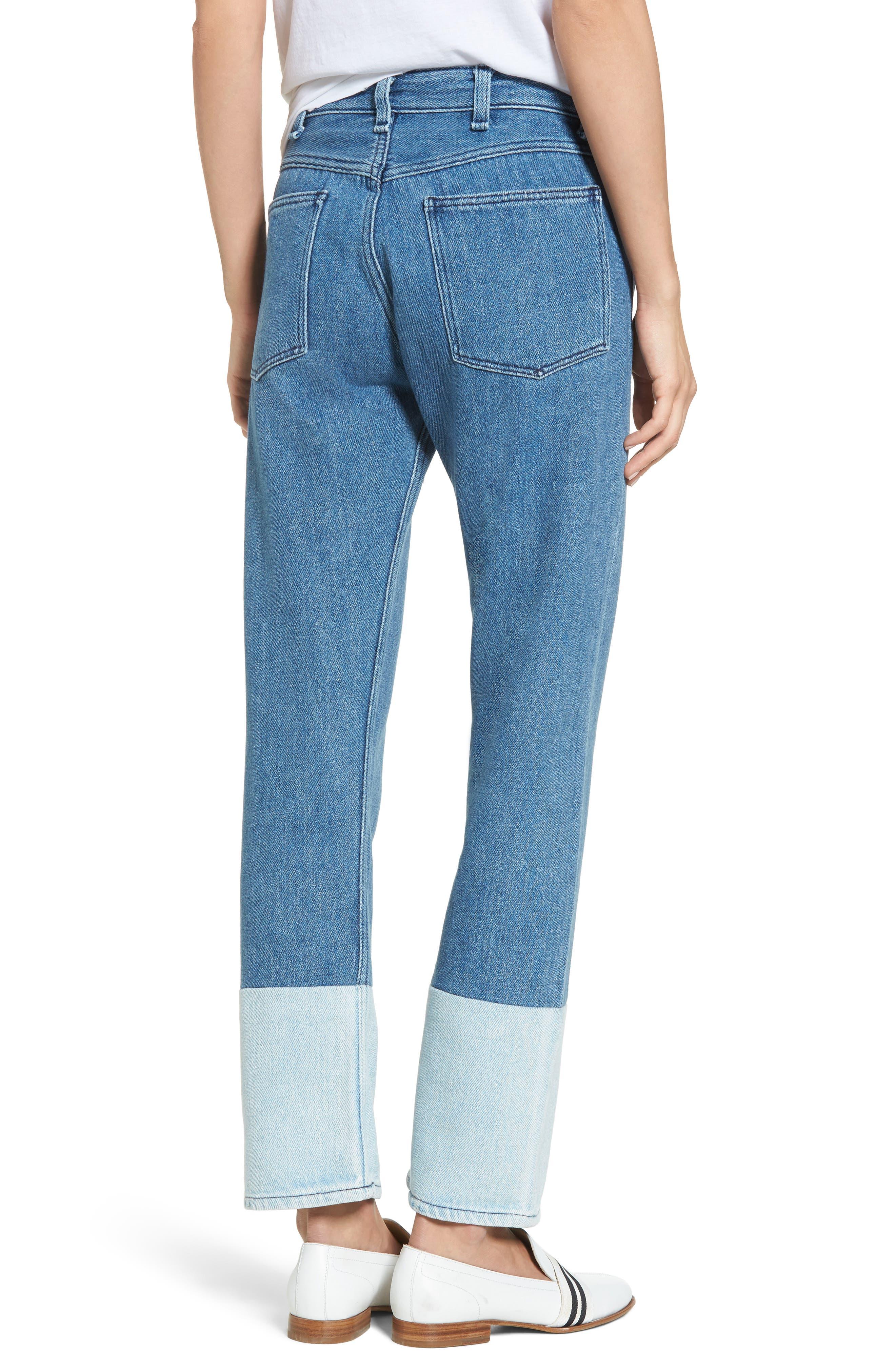 High Waist Straight Leg Jeans,                             Alternate thumbnail 2, color,                             404