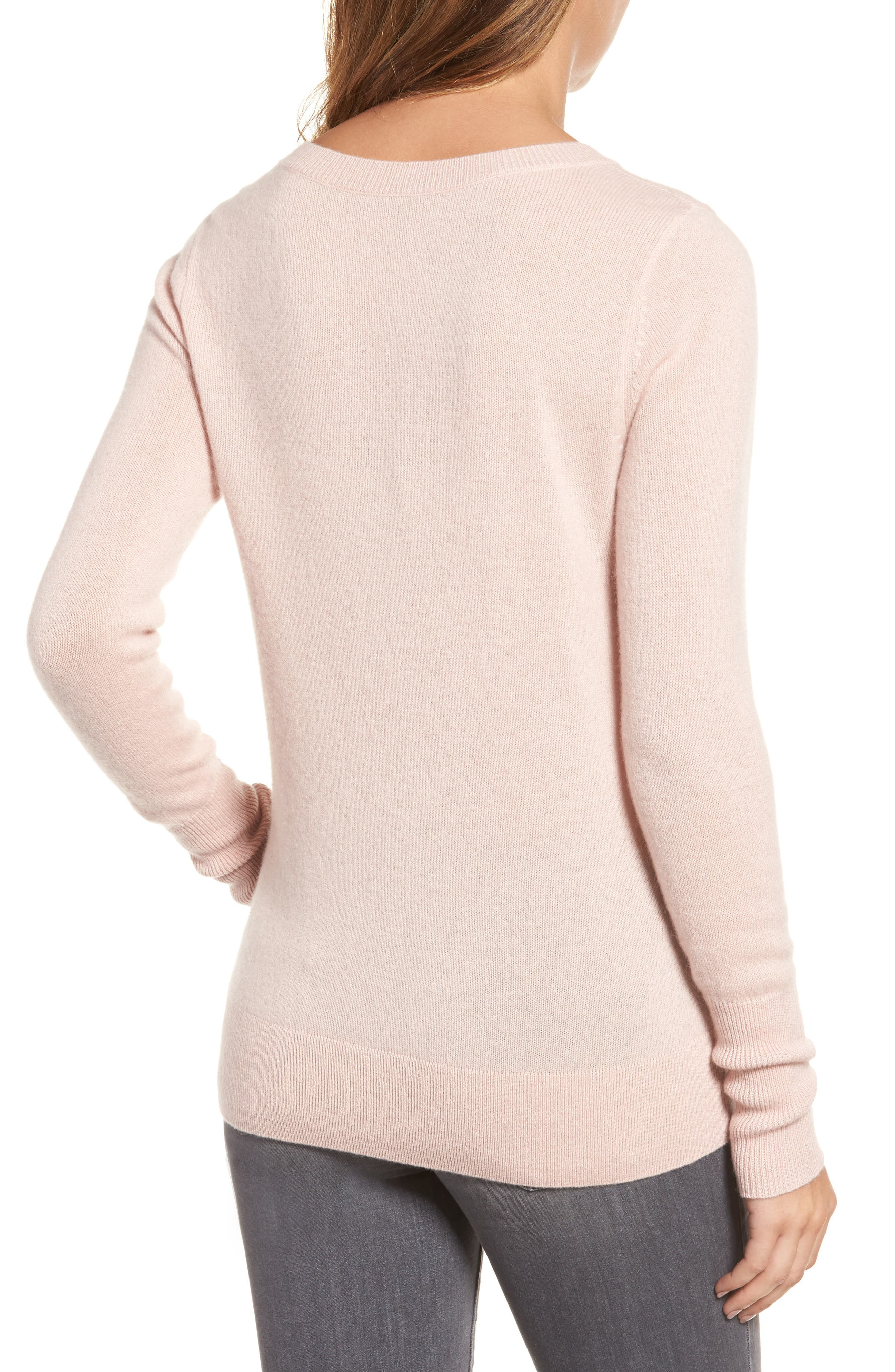 V-Neck Cashmere Sweater,                             Alternate thumbnail 29, color,