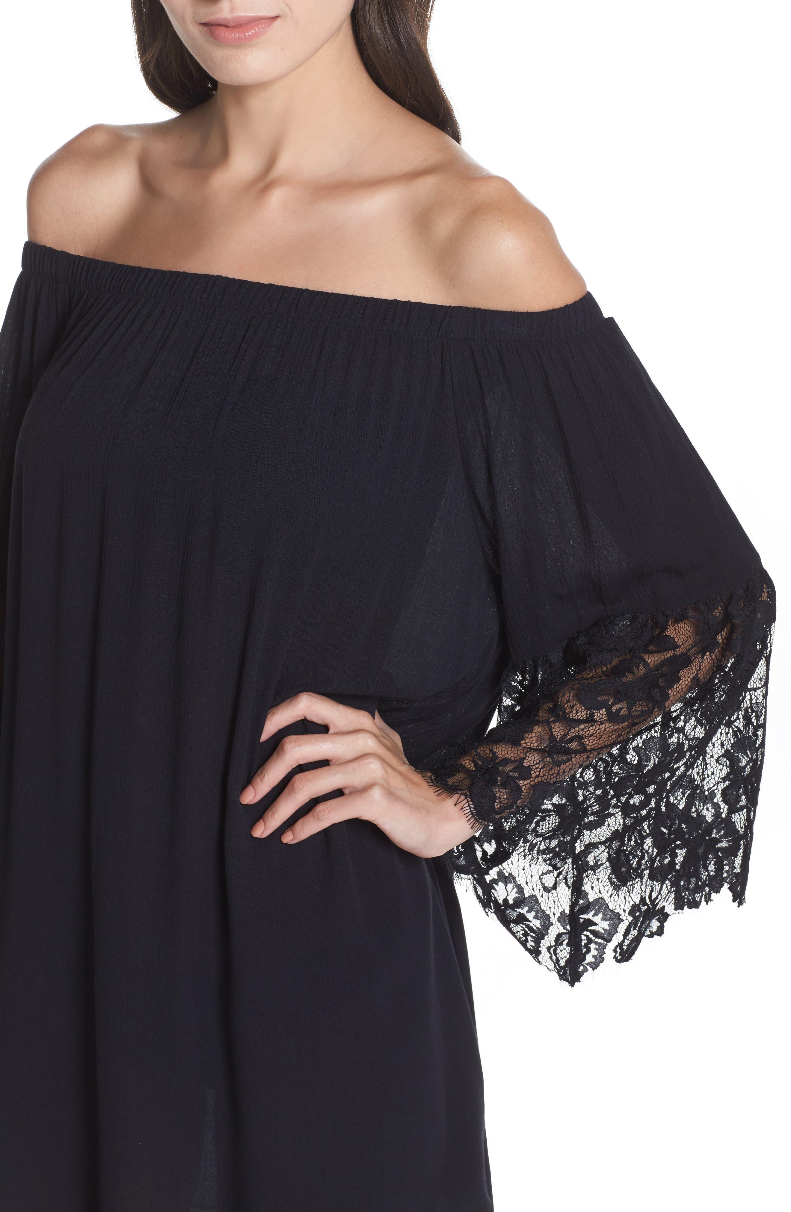 Off the Shoulder Cover-Up Dress,                             Alternate thumbnail 10, color,