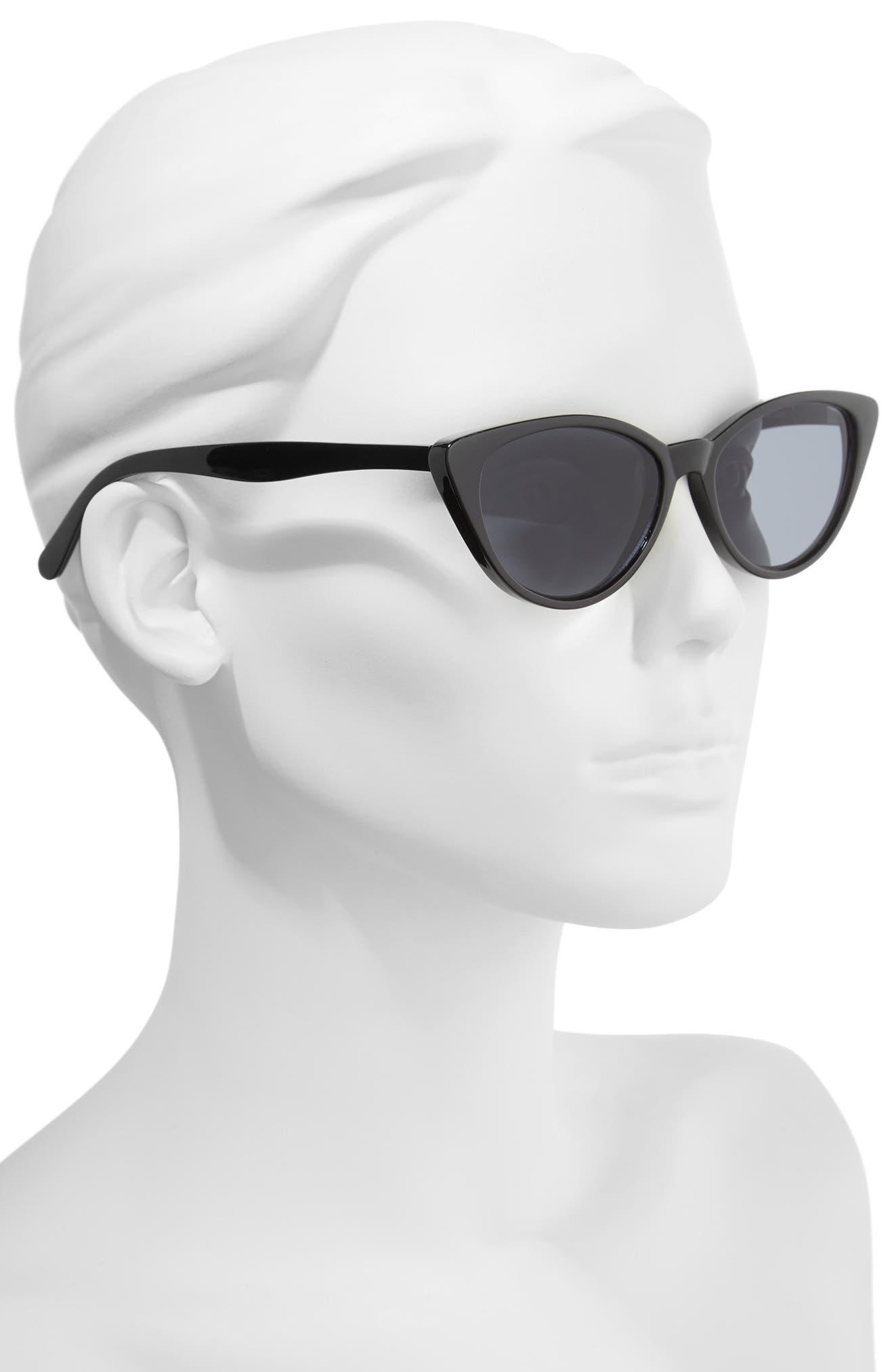 I Spy 53mm Exaggerated Cat Eye Sunglasses,                             Alternate thumbnail 2, color,                             001
