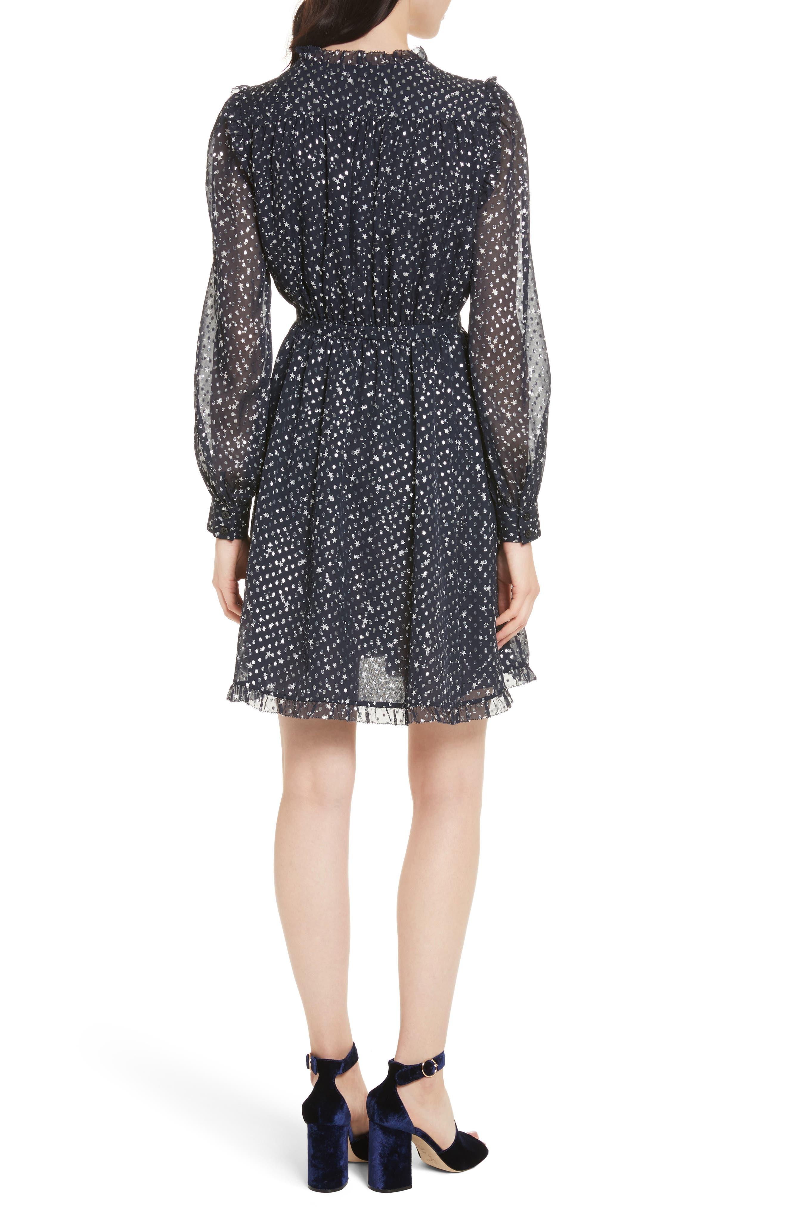 night sky dot dress,                             Alternate thumbnail 2, color,                             473