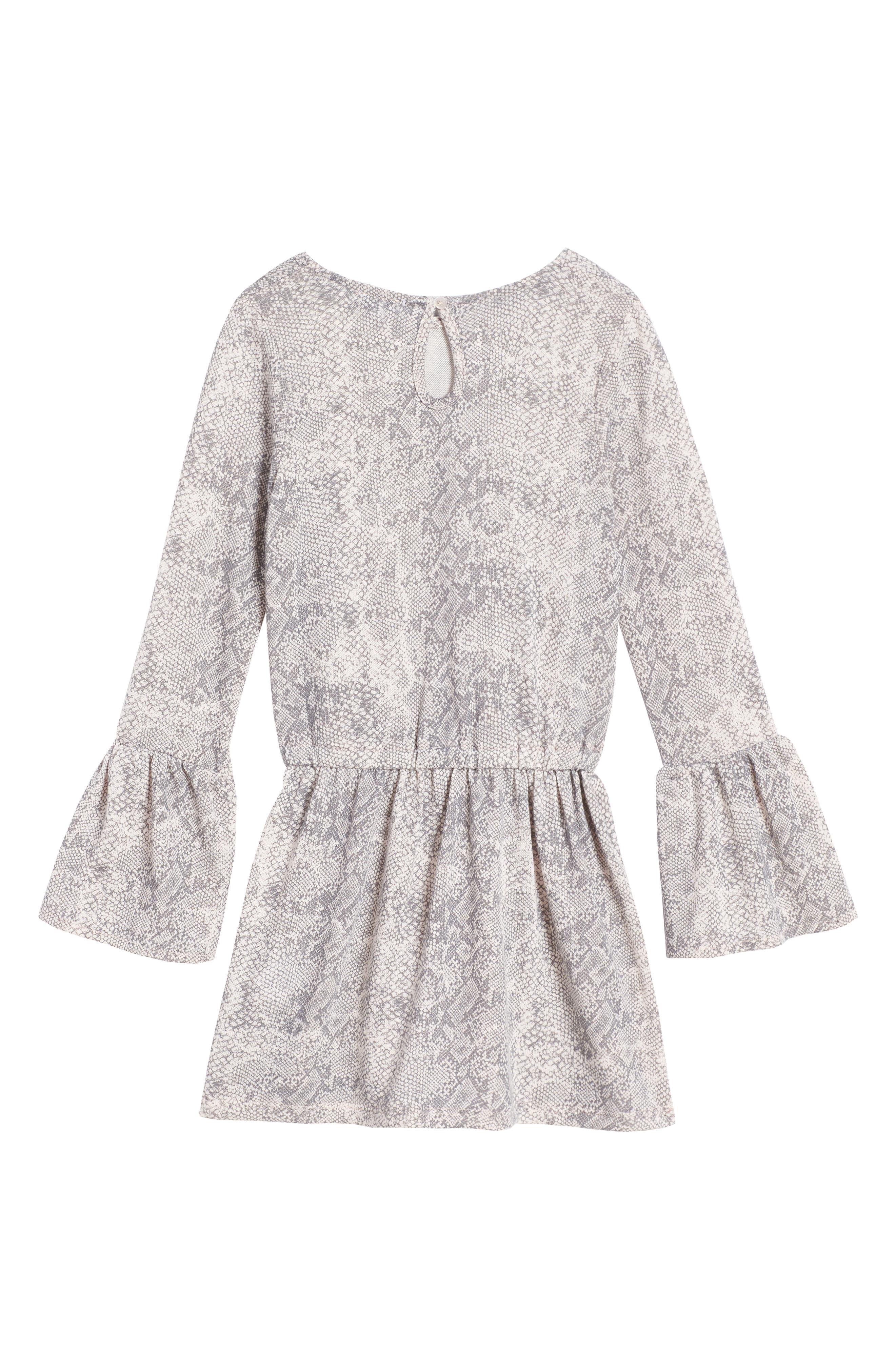Python Print Loose Knit Dress,                             Alternate thumbnail 2, color,                             655