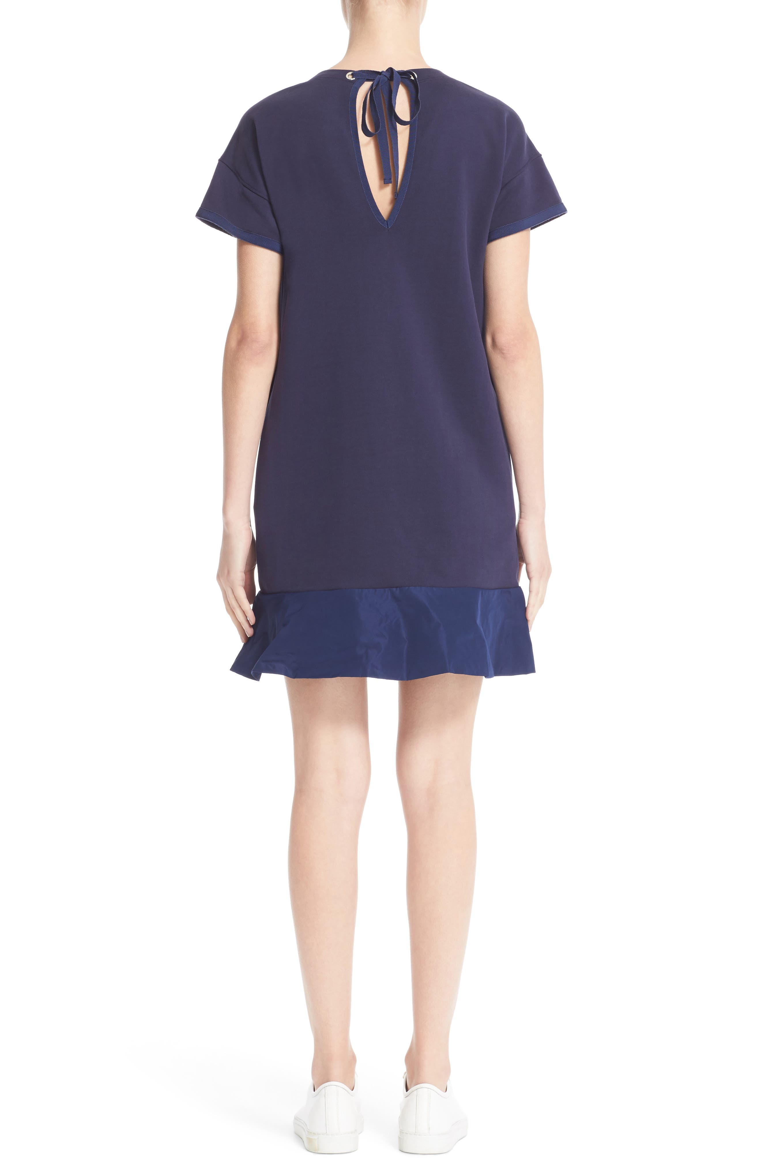 Abito Ruffle Sweatshirt Dress,                             Alternate thumbnail 2, color,                             420
