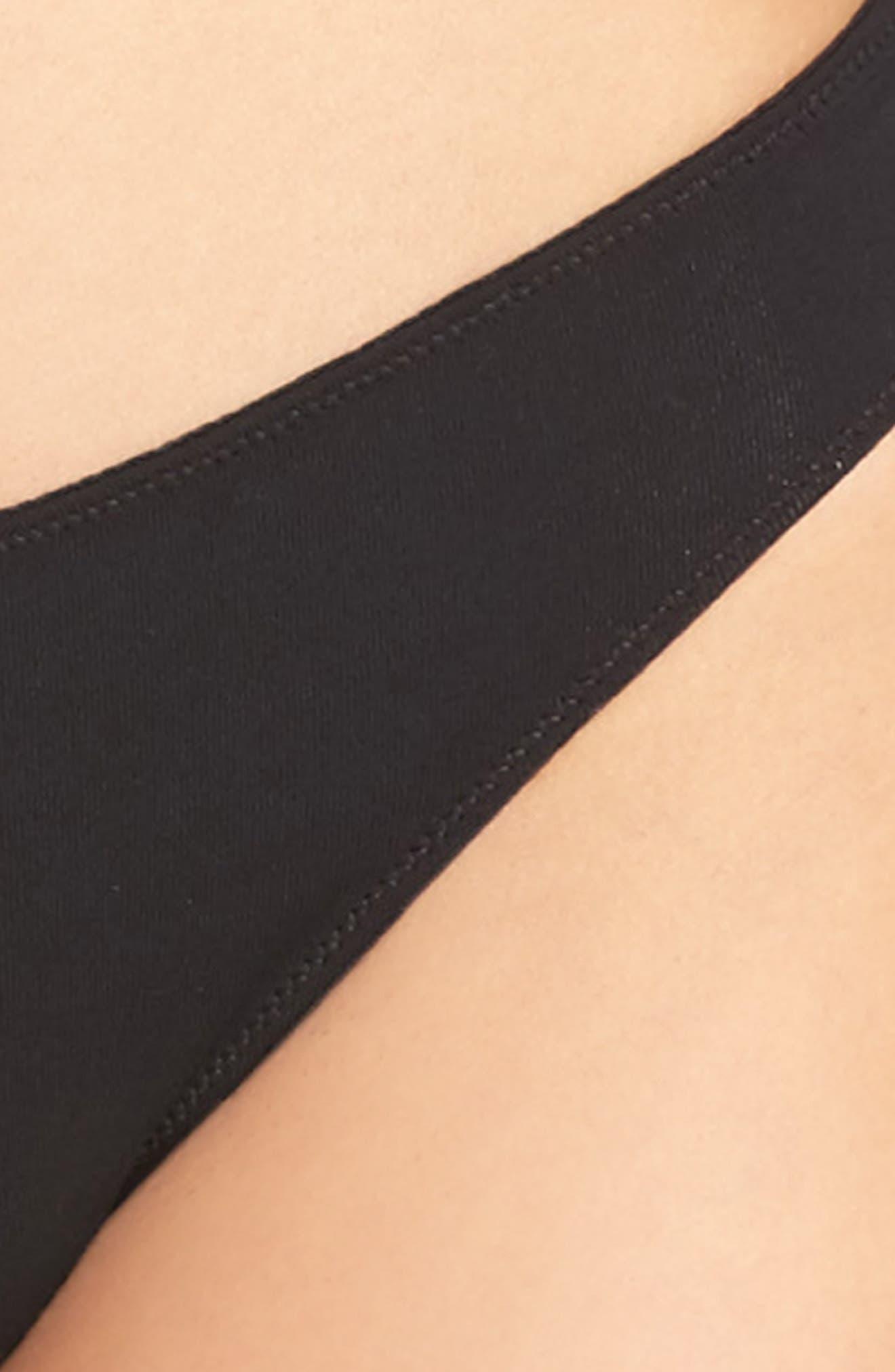 Jersey Bikini,                             Alternate thumbnail 4, color,                             TRUE BLACK