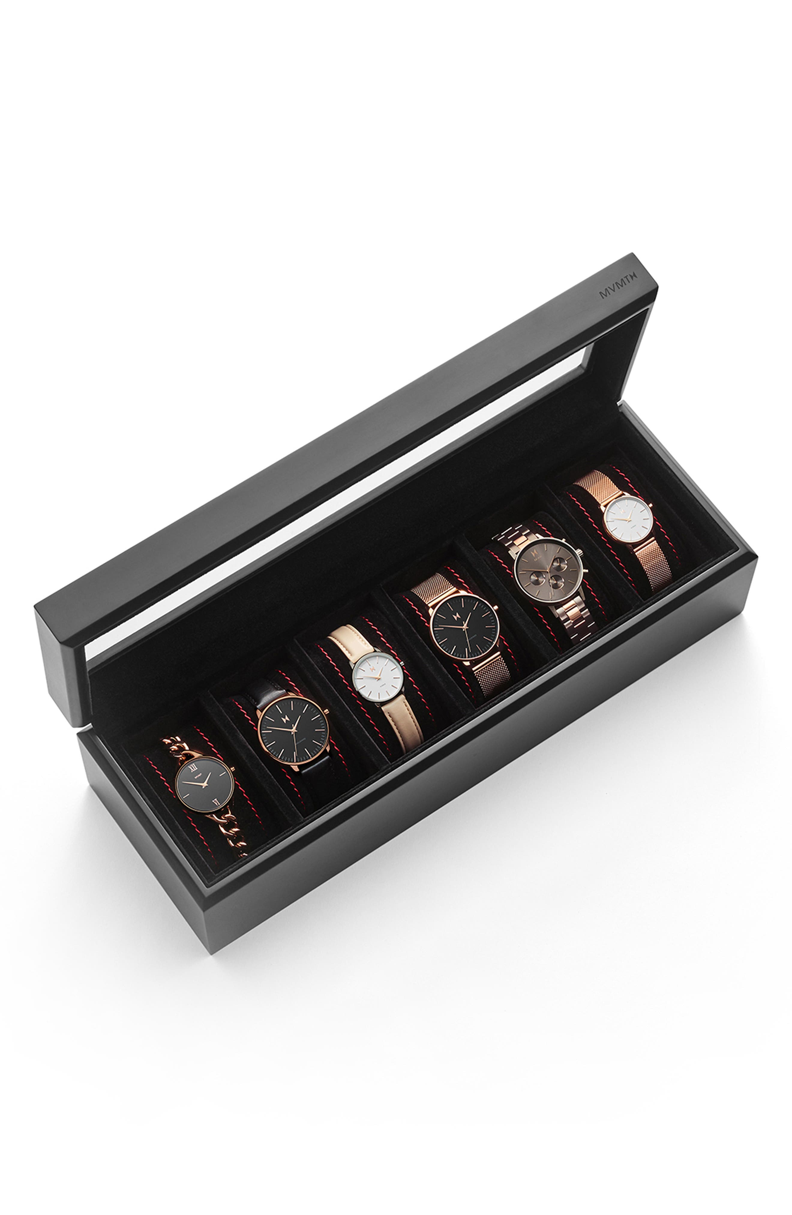 Watch Collector's Case,                             Alternate thumbnail 4, color,                             BLACK
