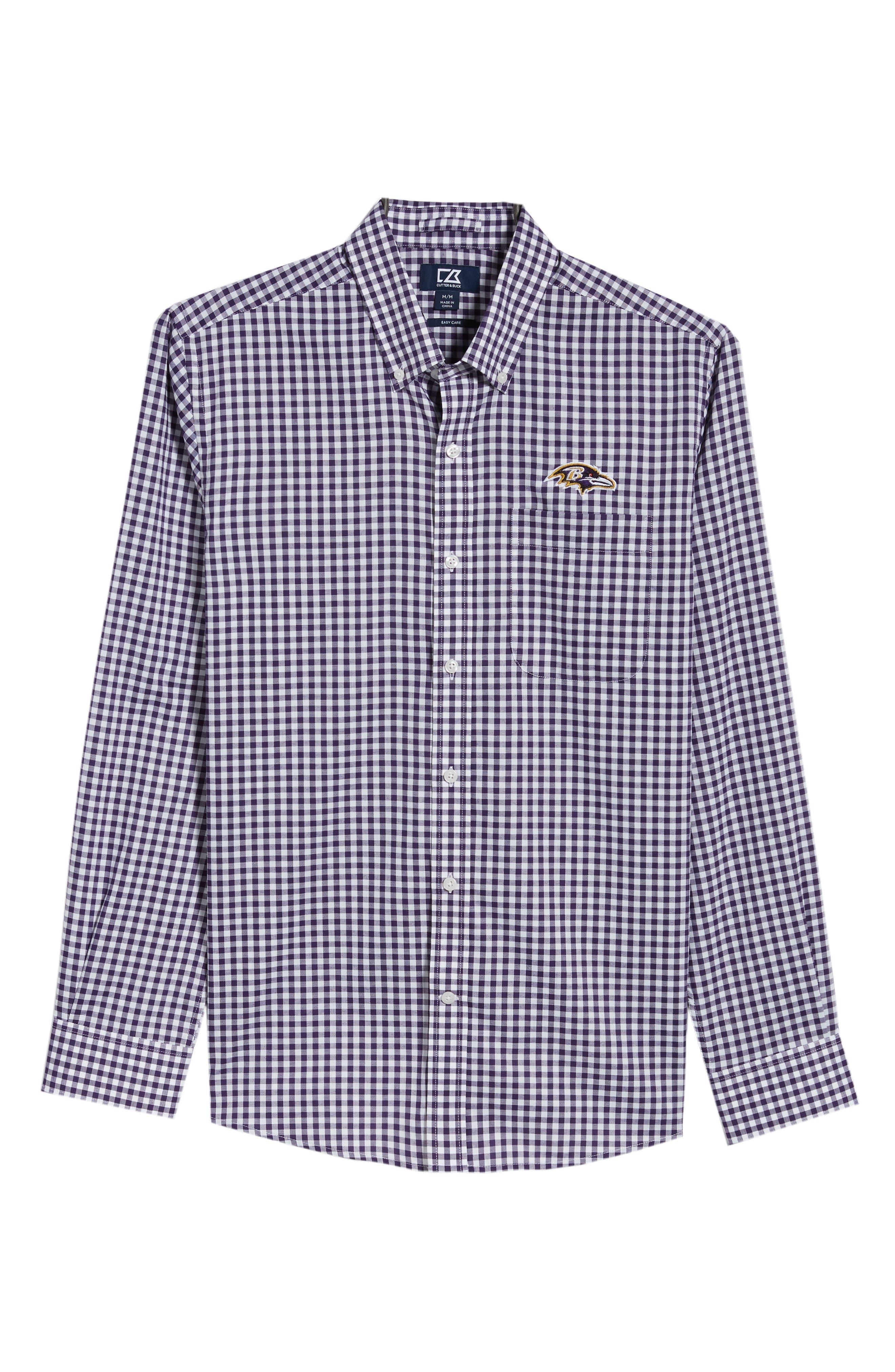 League Baltimore Ravens Regular Fit Shirt,                             Alternate thumbnail 6, color,                             COLLEGE PURPLE