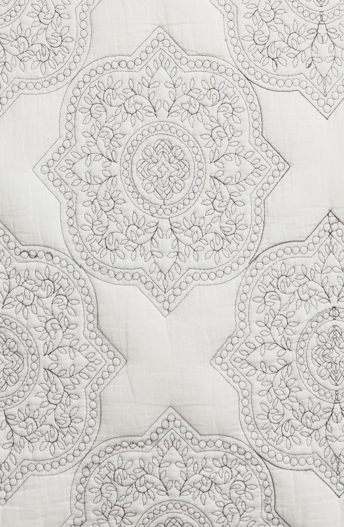 NORDSTROM AT HOME,                             Ria Embroidered Sham,                             Alternate thumbnail 3, color,                             IVORY