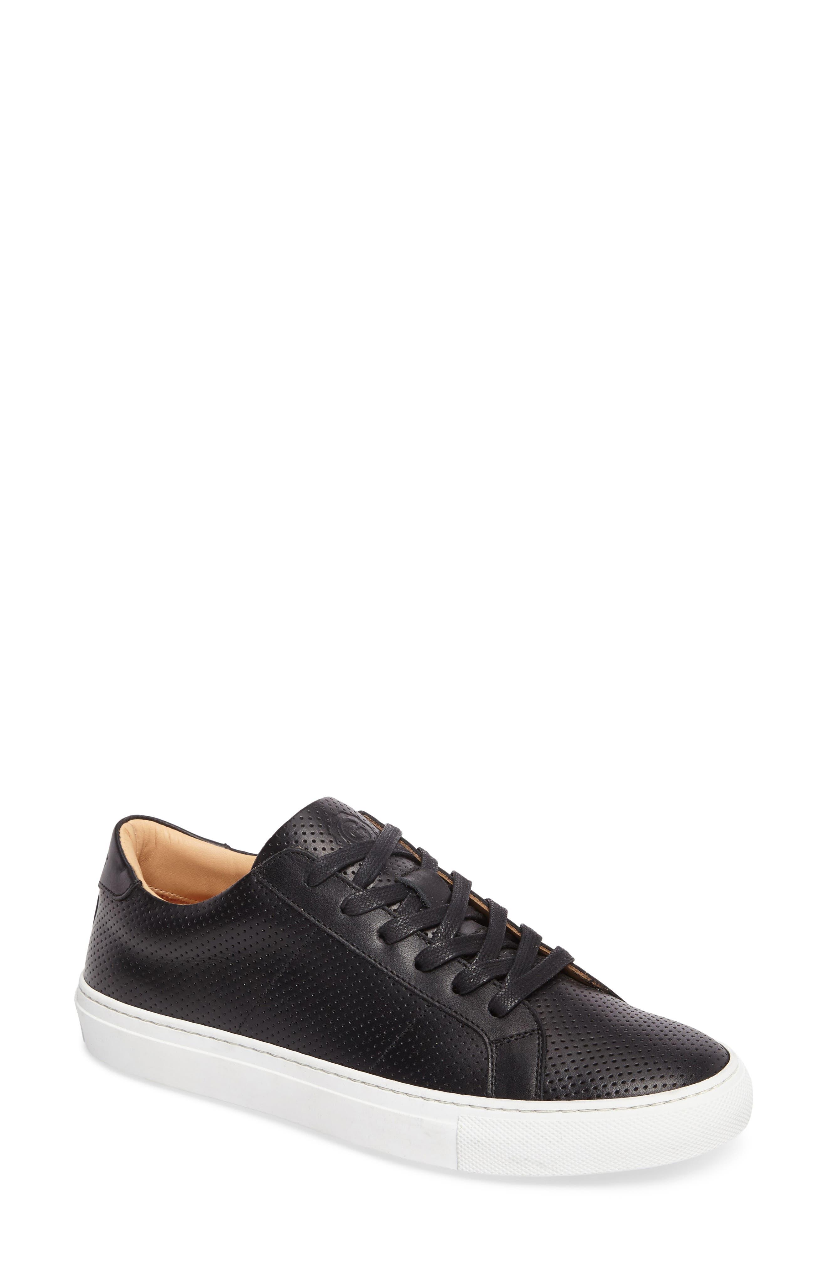 Royale Low Top Sneaker,                             Main thumbnail 1, color,                             BLACK PERFORATED