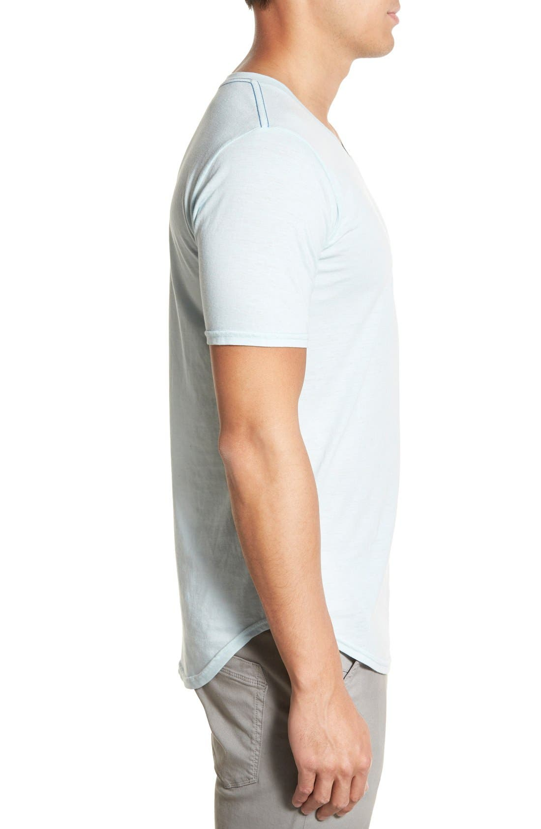 Scallop Triblend V-Neck T-Shirt,                             Alternate thumbnail 66, color,