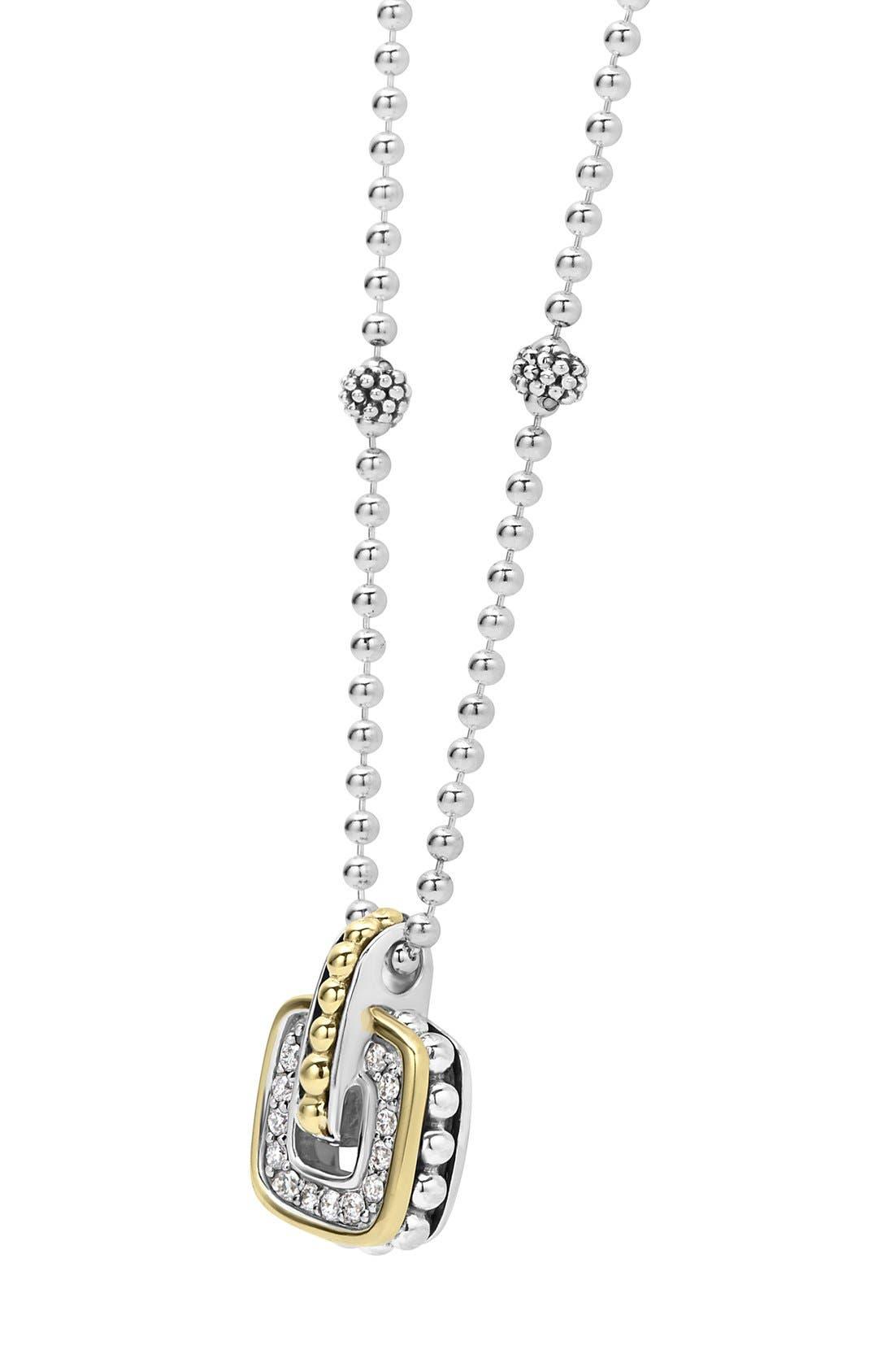 'Cushion' Small Pendant Necklace,                             Alternate thumbnail 4, color,                             040