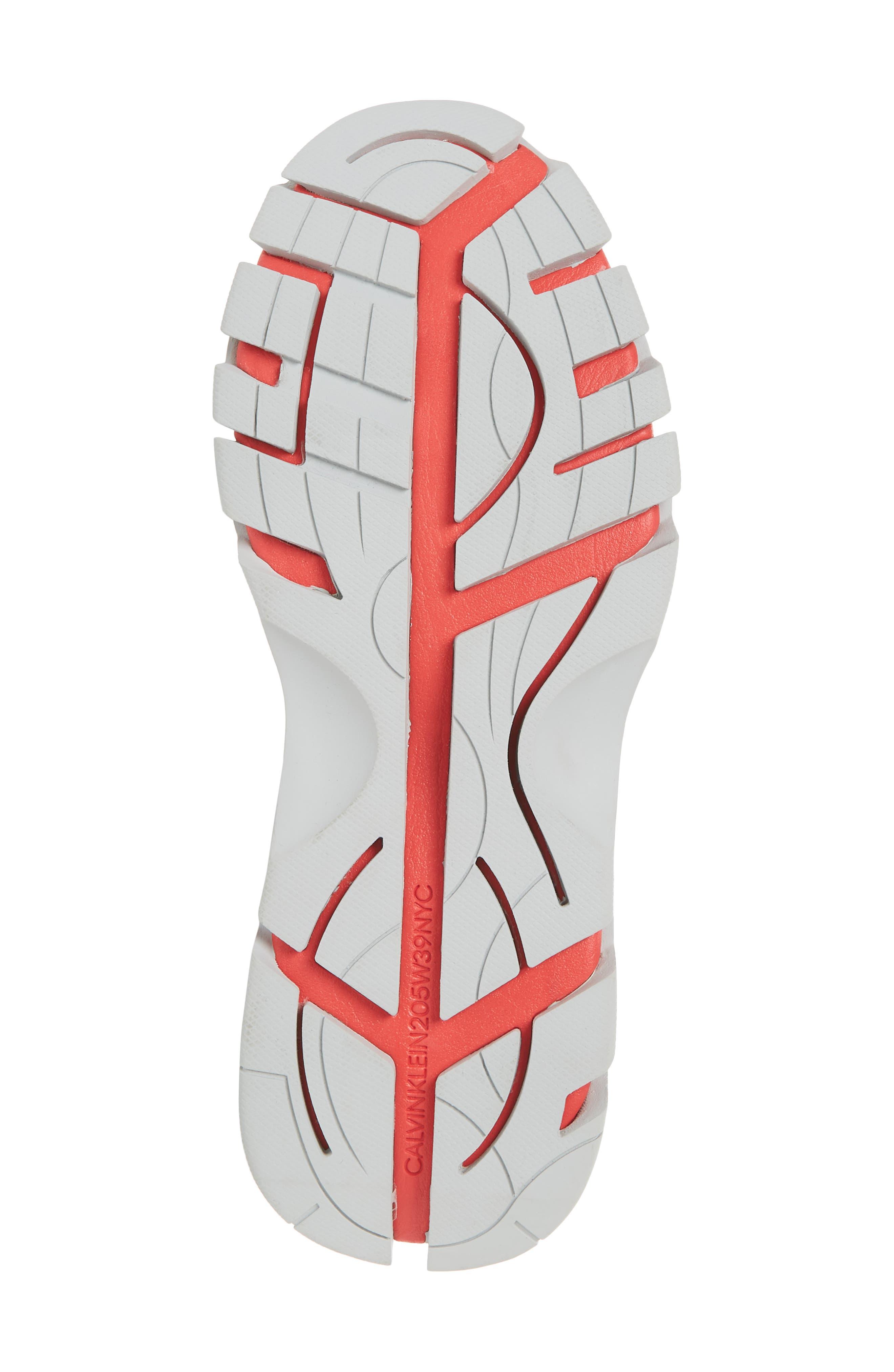 Cander 7 Sneaker,                             Alternate thumbnail 6, color,                             BLACK/ WHITE/ RED/ GREY