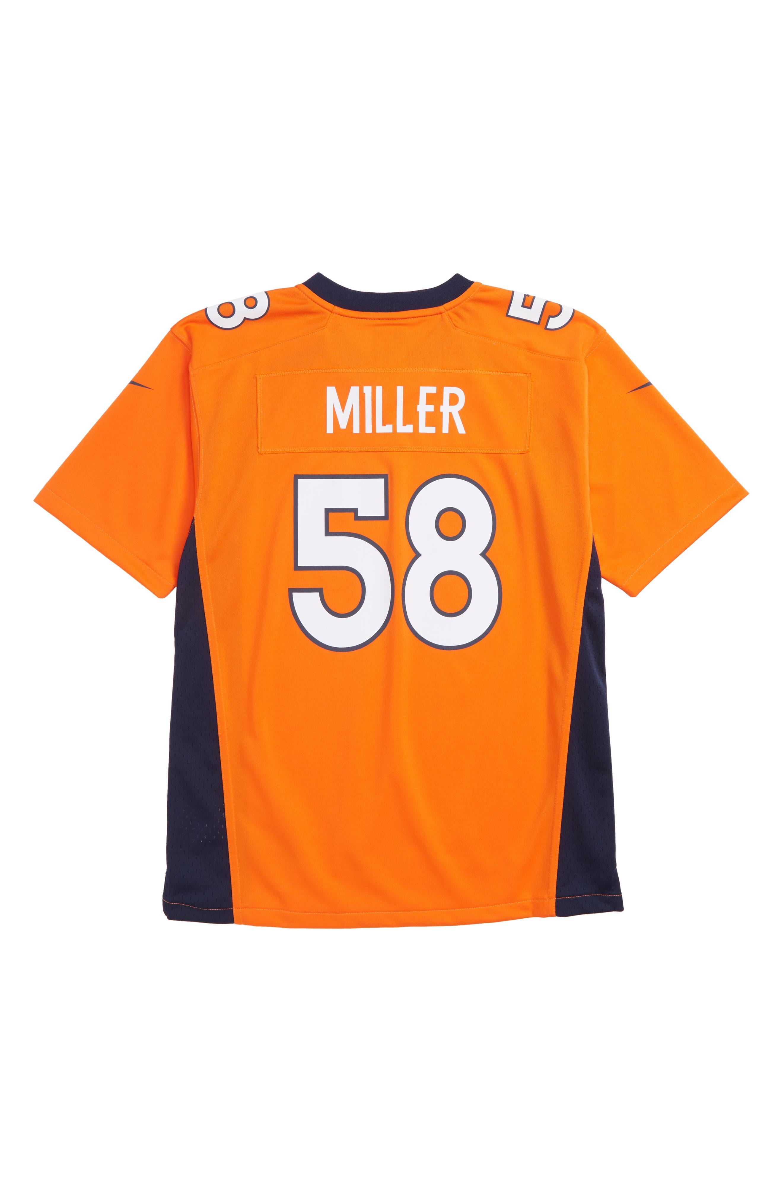 NFL Logo Denver Broncos Von Miller Jersey,                             Alternate thumbnail 2, color,                             ORANGE