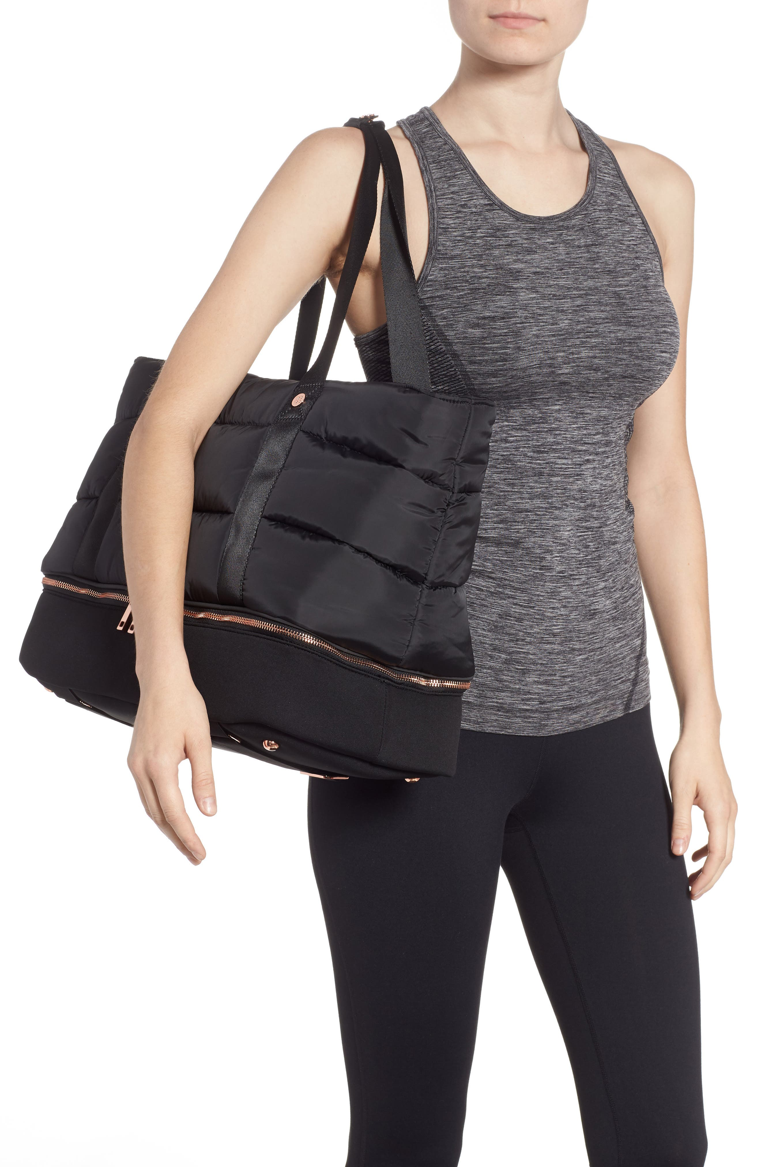 Luxe Gym Bag,                             Alternate thumbnail 2, color,                             001