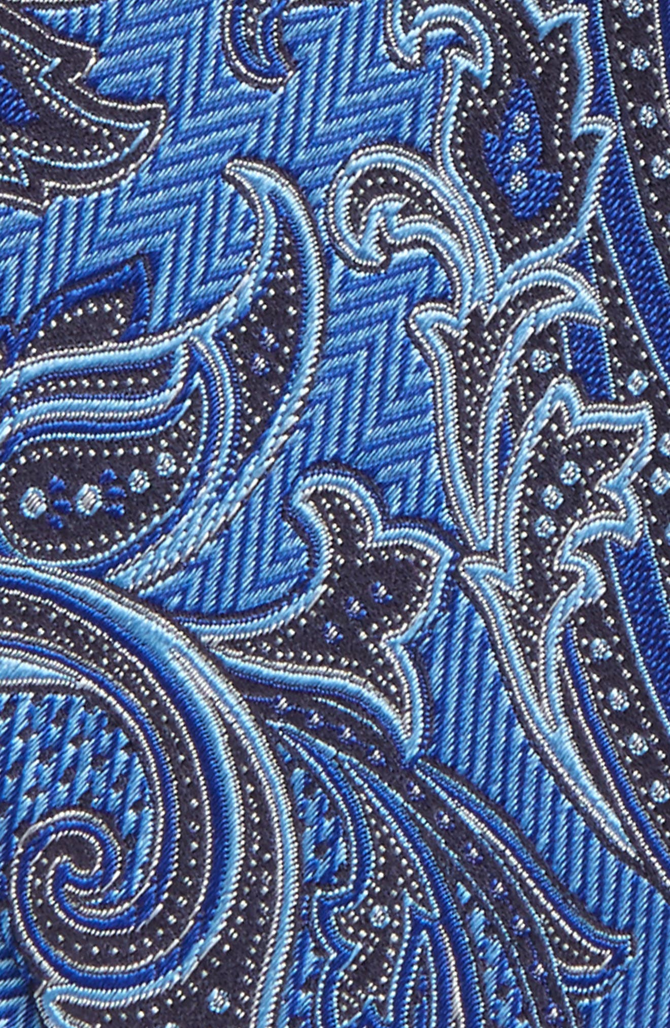 Paisley Silk Bow Tie,                             Alternate thumbnail 3, color,                             400
