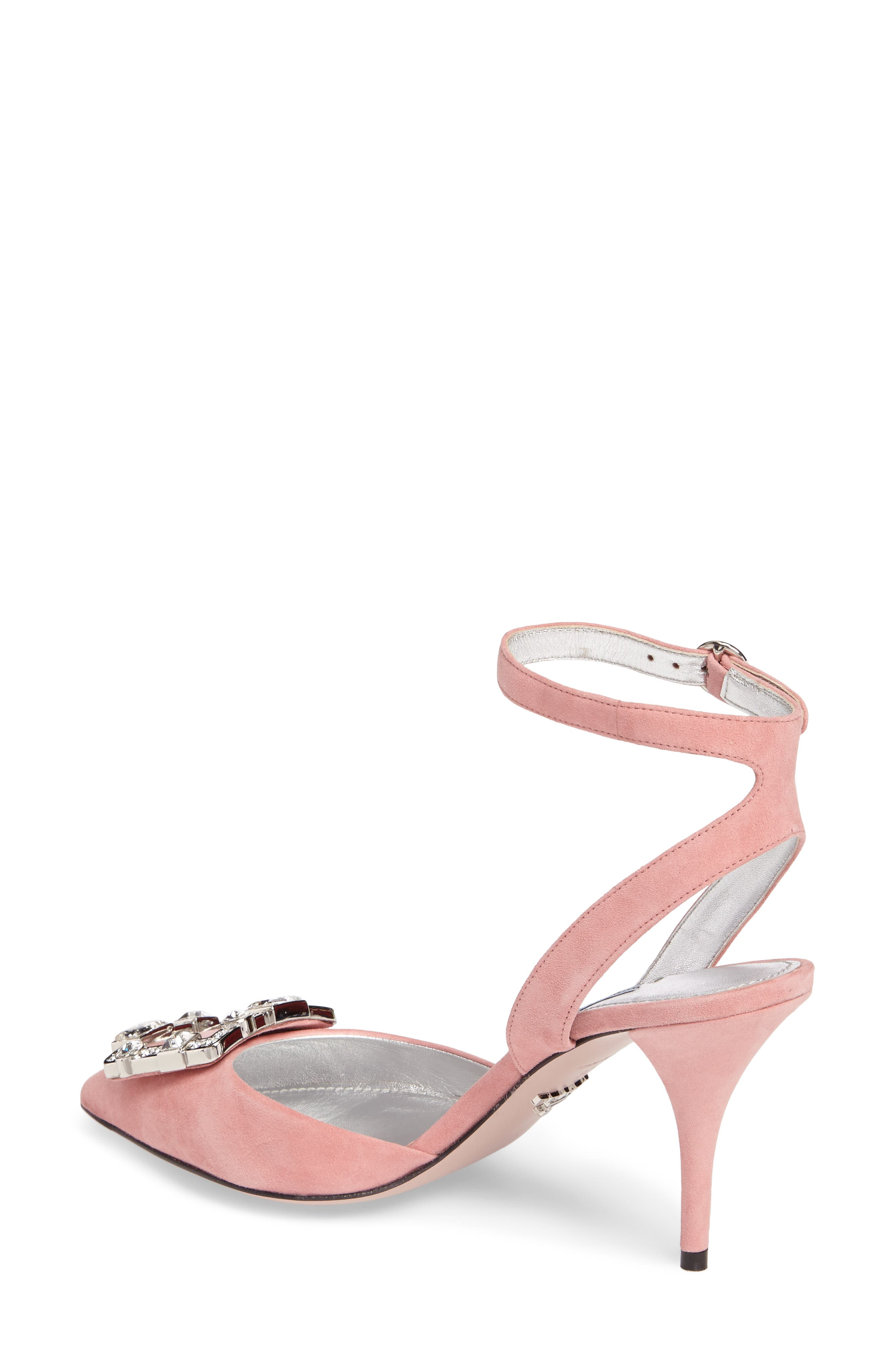 Crystal Brooch Ankle Strap Pump,                             Alternate thumbnail 2, color,                             669