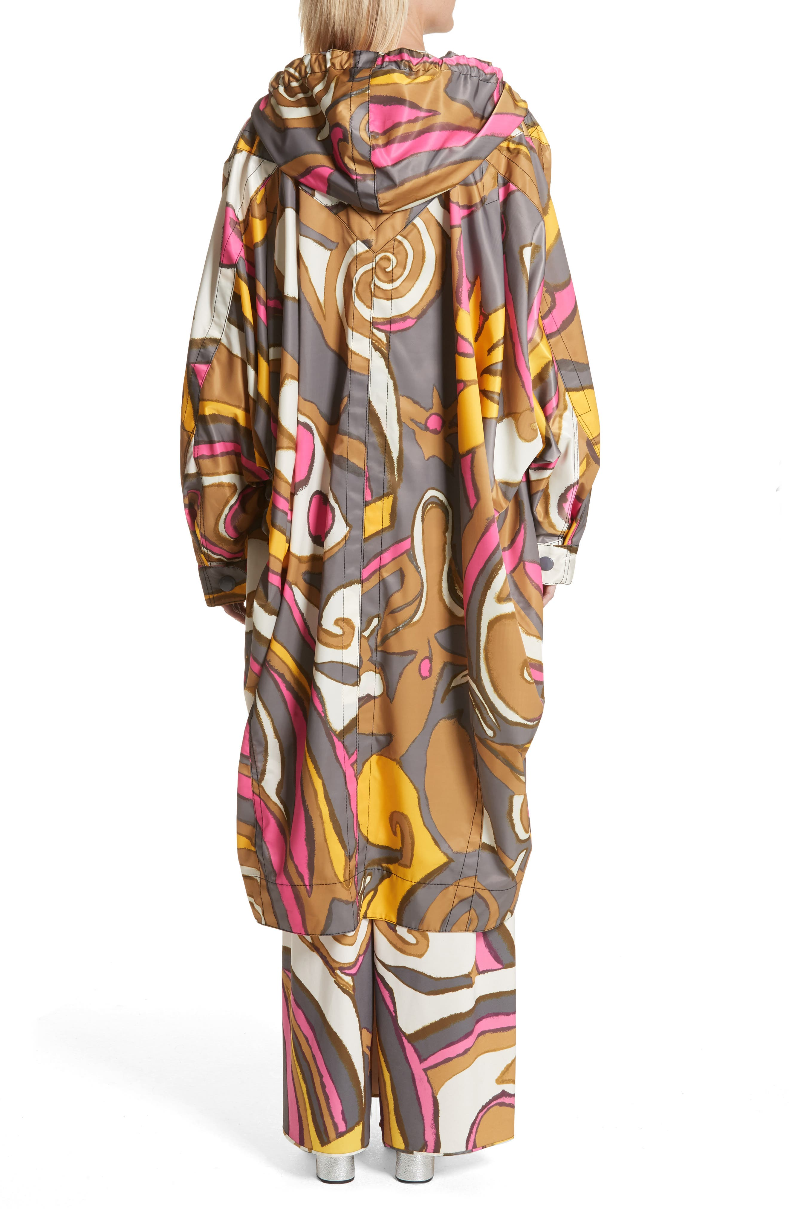Retro Print Oversize Coat,                             Alternate thumbnail 2, color,                             060