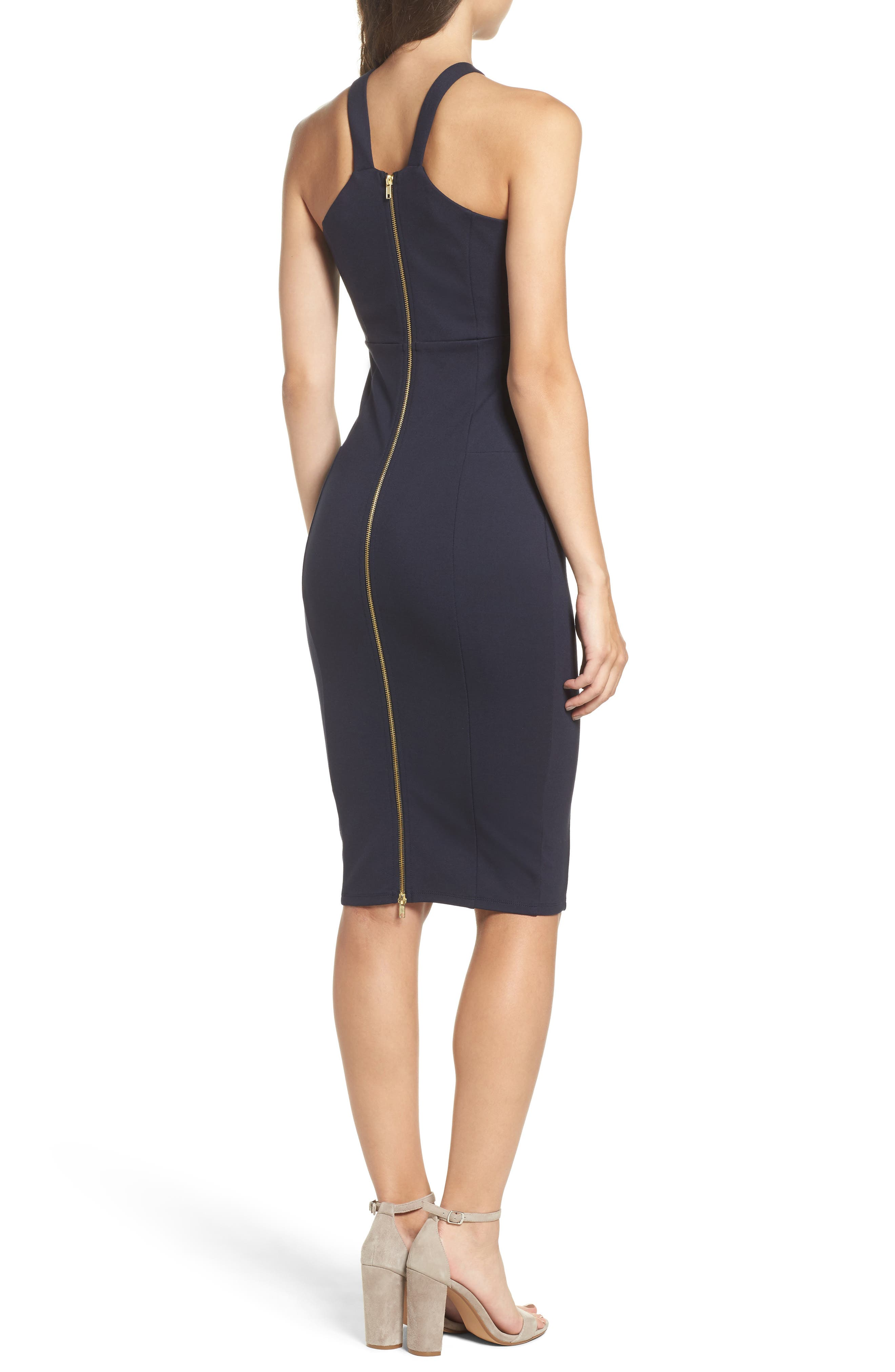 Betina Halter Body-Con Dress,                             Alternate thumbnail 2, color,