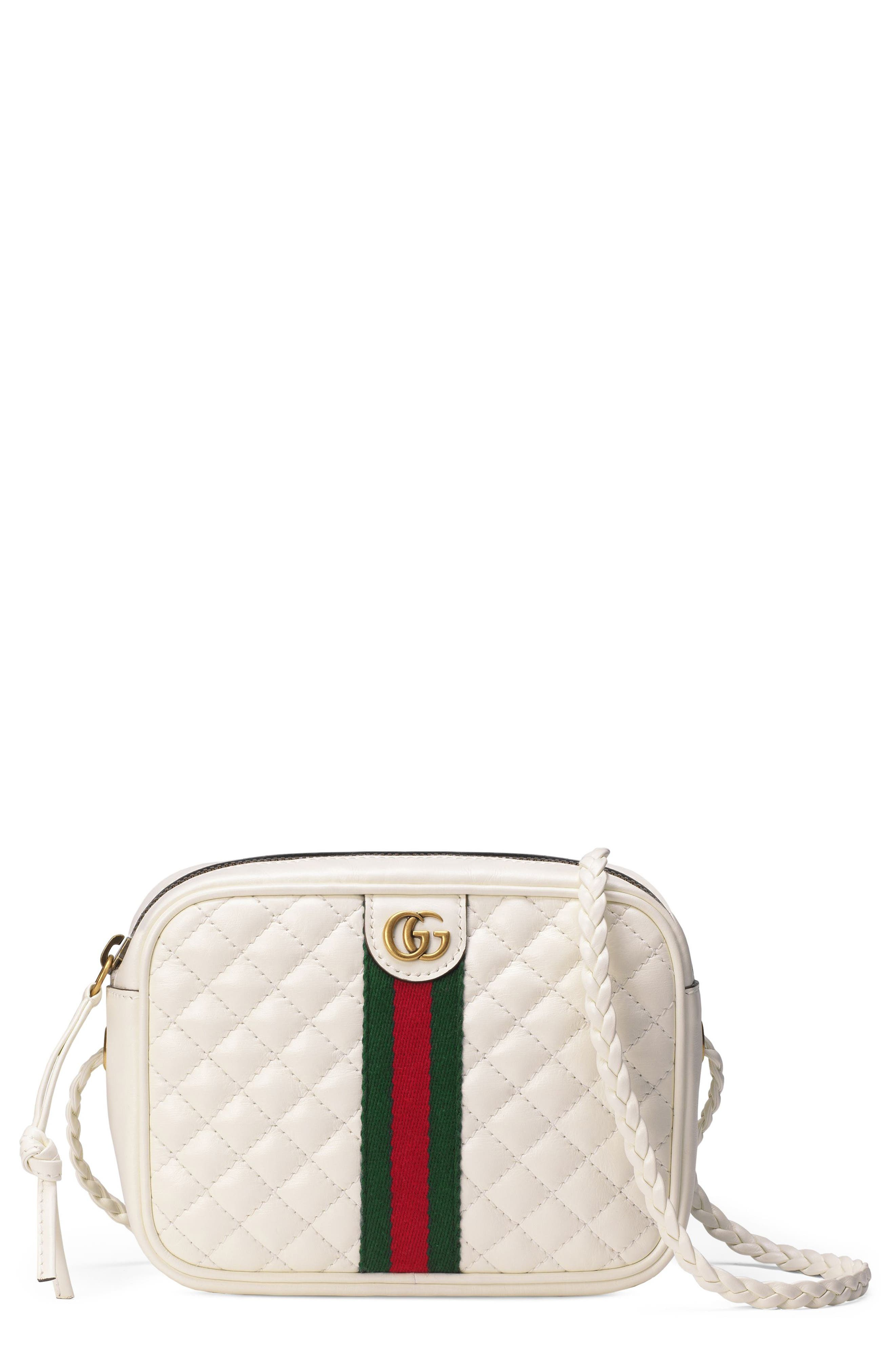 Gucci Small Quilted Leather Camera Bag - Ivory