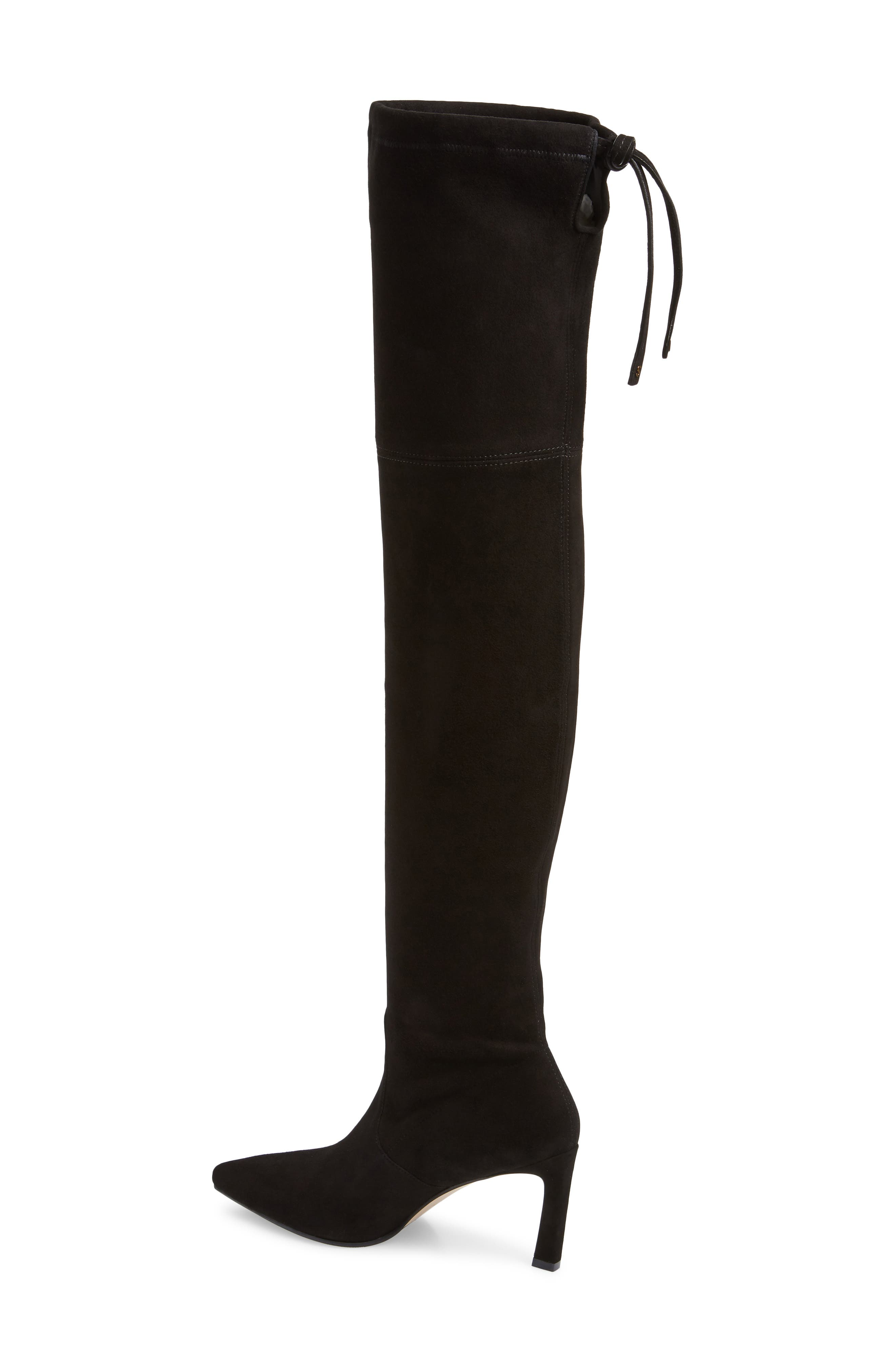Natalia Thigh High Boot,                             Alternate thumbnail 2, color,                             BLACK SUEDE
