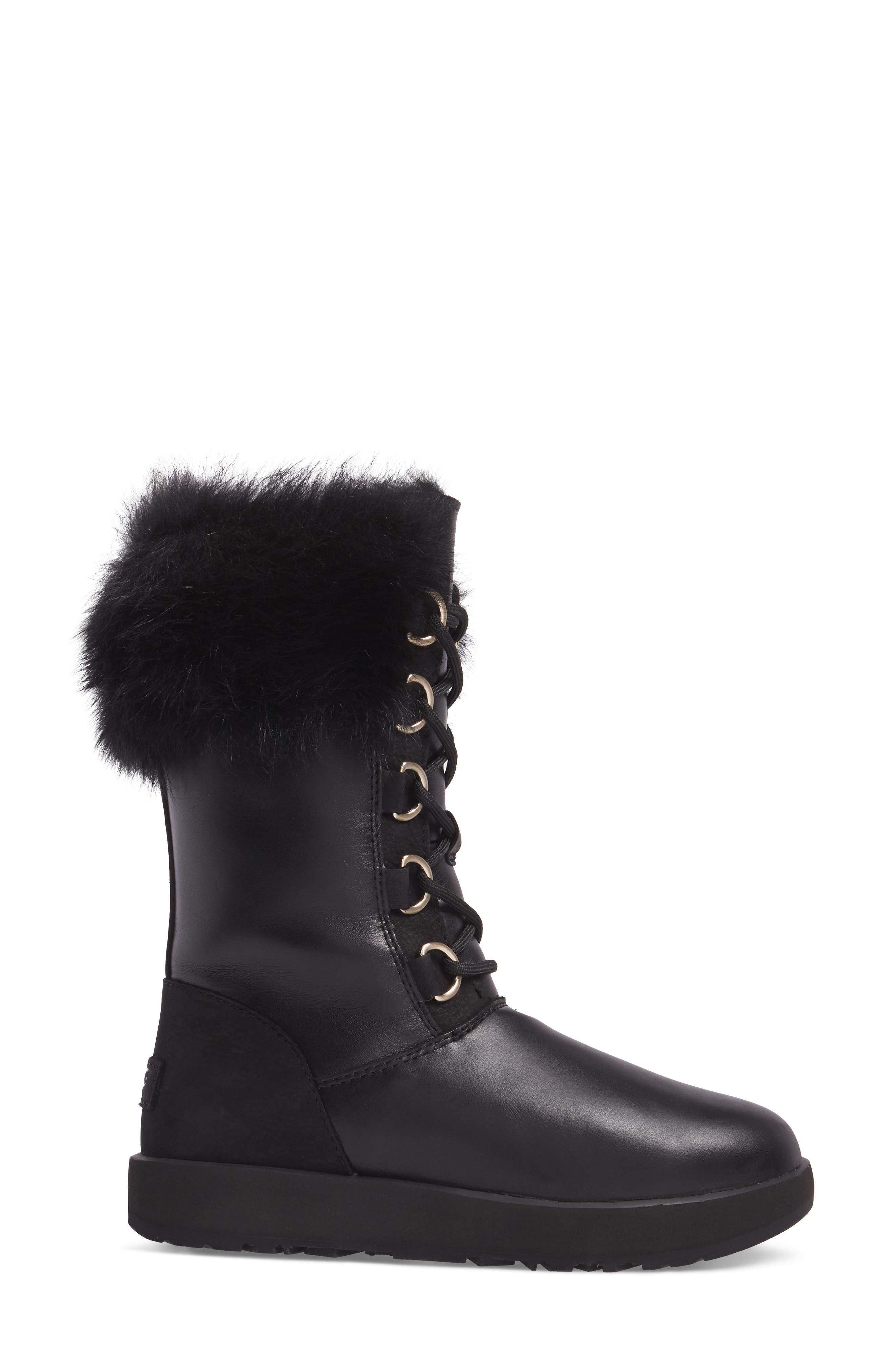 Aya Waterproof Snow Boot,                             Alternate thumbnail 3, color,                             001