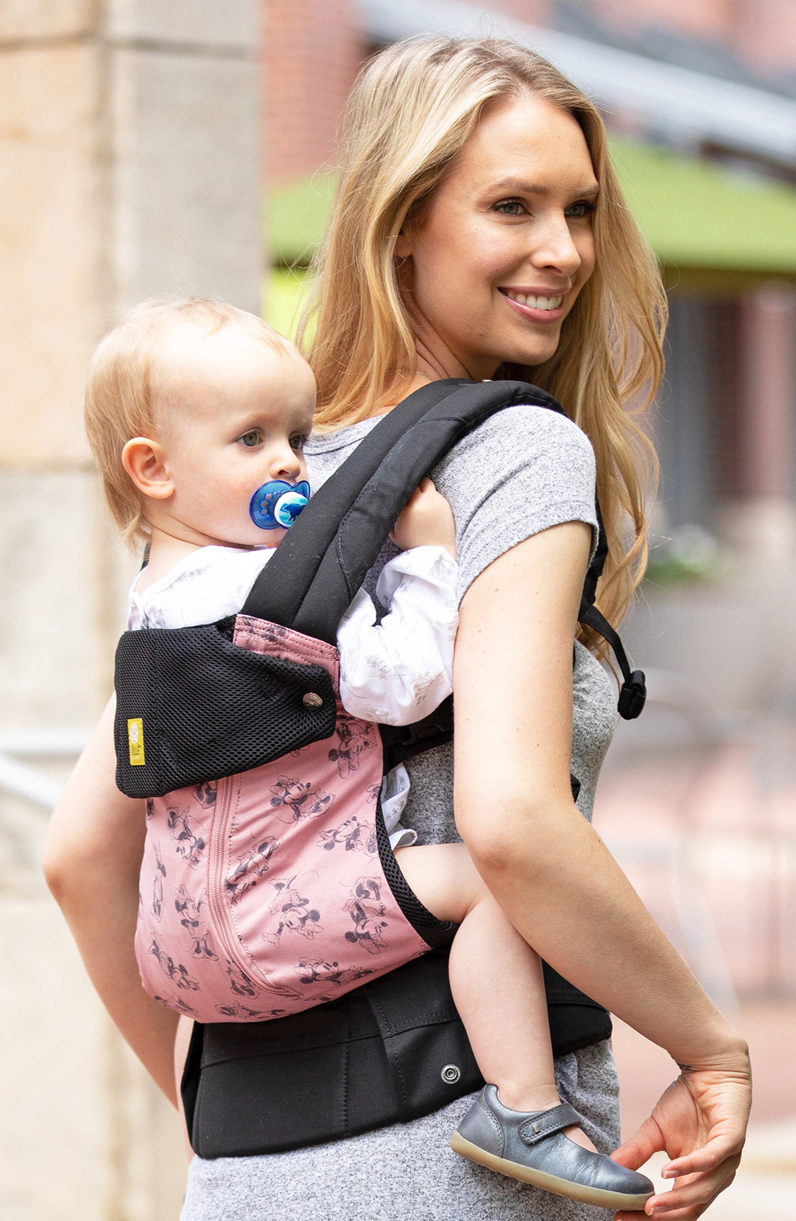 x Disney Complete All Seasons - Minnie Mouse Baby Carrier,                             Alternate thumbnail 4, color,                             PINK