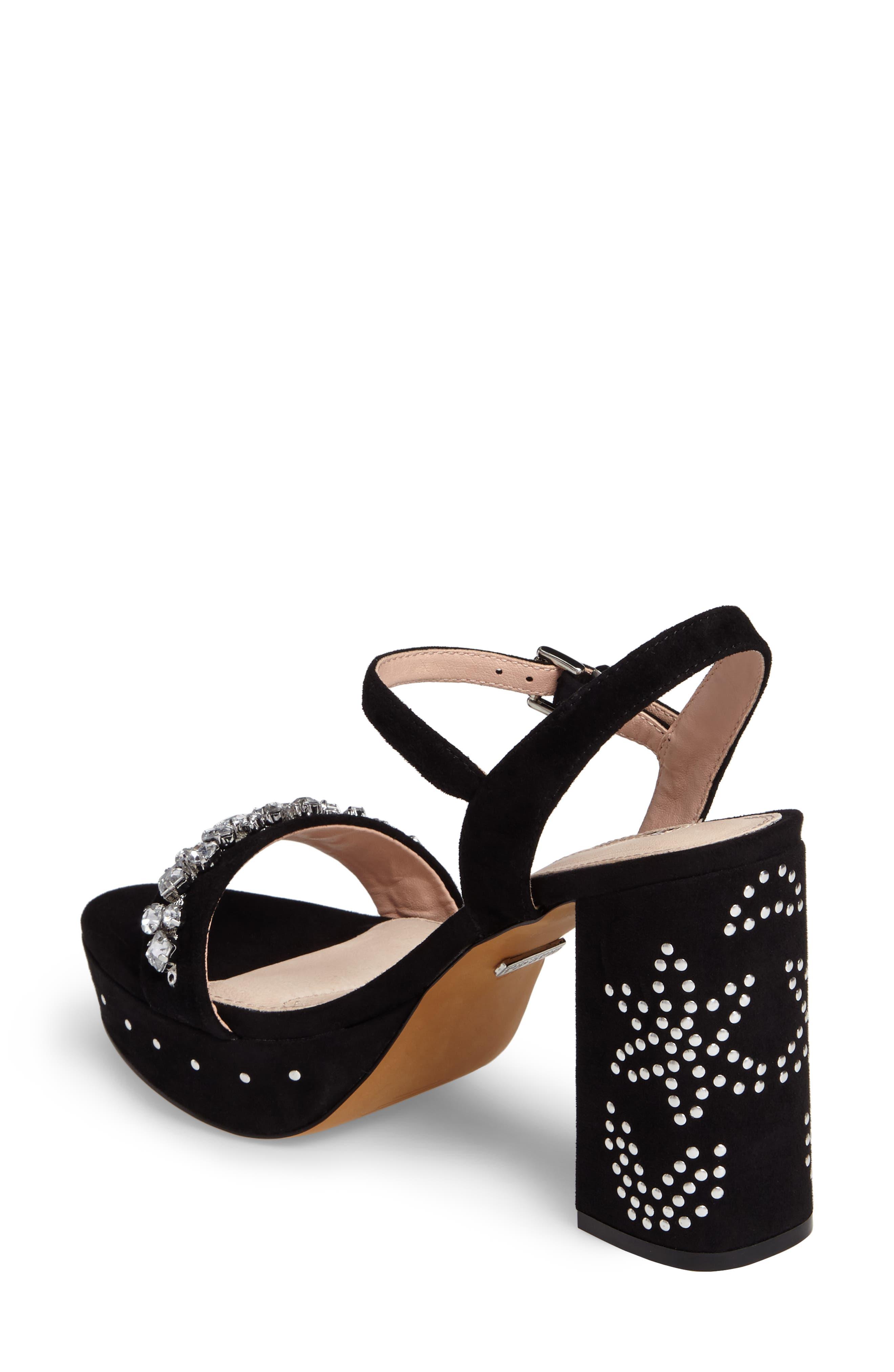 Lovely Embellished Platform Sandal,                             Alternate thumbnail 2, color,                             001