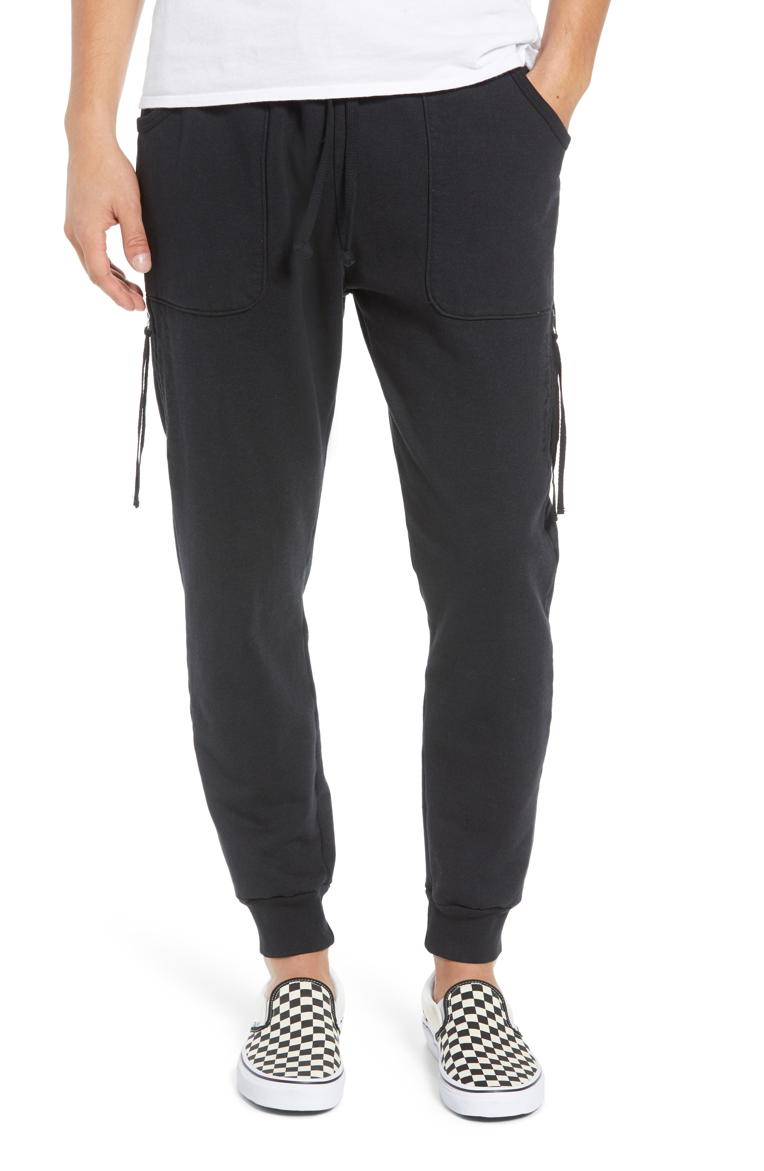 DRIFTER Knievel Jogger Pants in Black