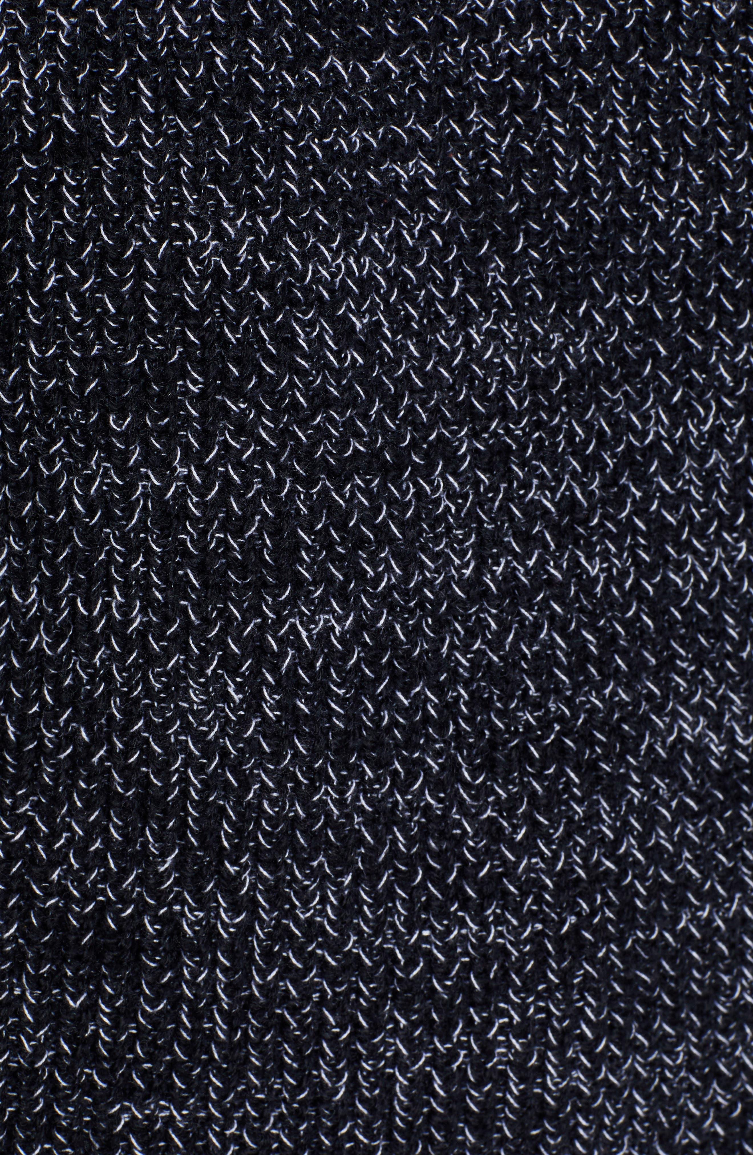 Raglan Sleeve Sweater,                             Alternate thumbnail 5, color,                             BLACK CREW MARL