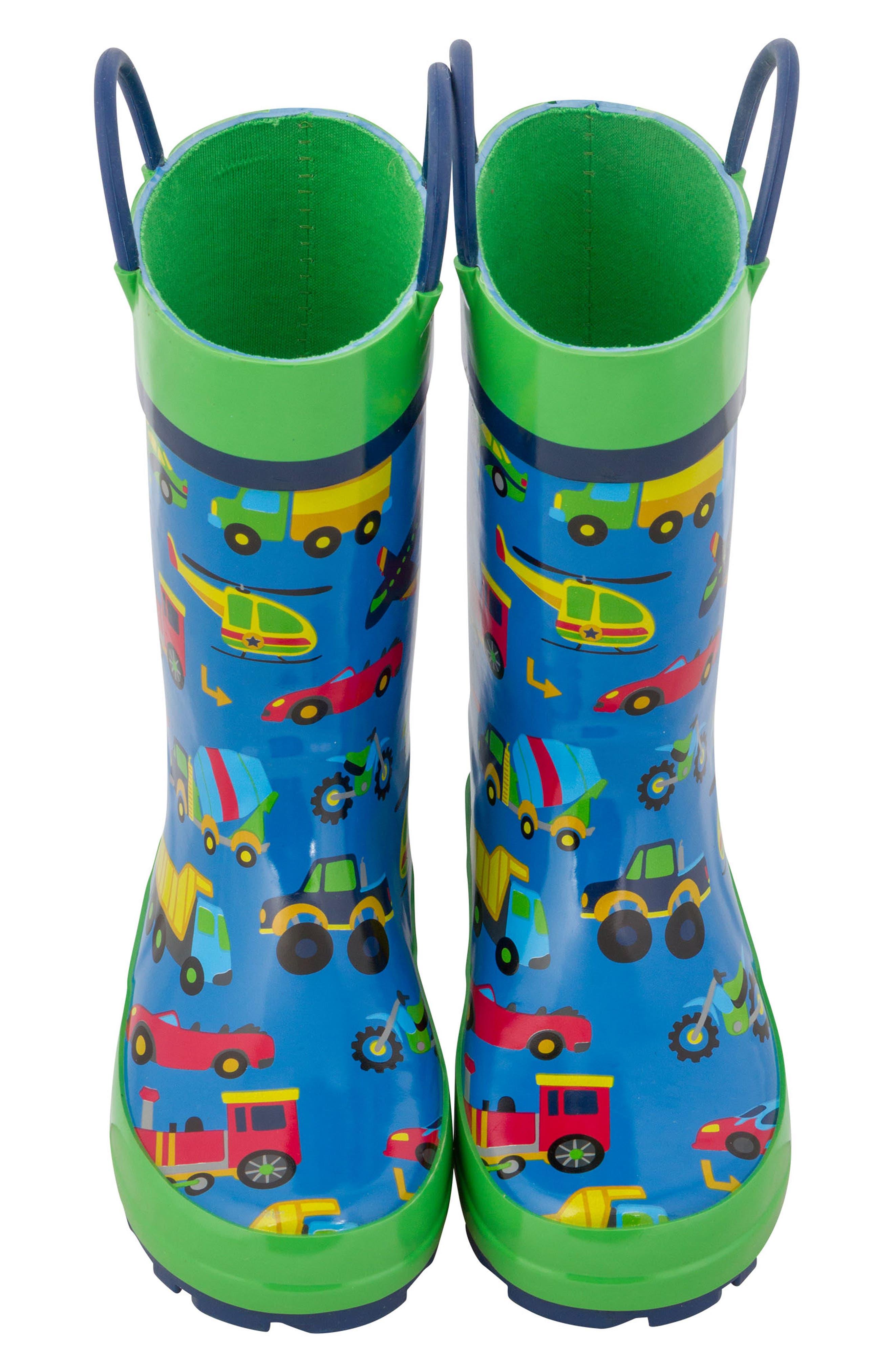Transportation Rain Boots & Umbrella Set,                             Alternate thumbnail 3, color,                             TRANSPORTATION