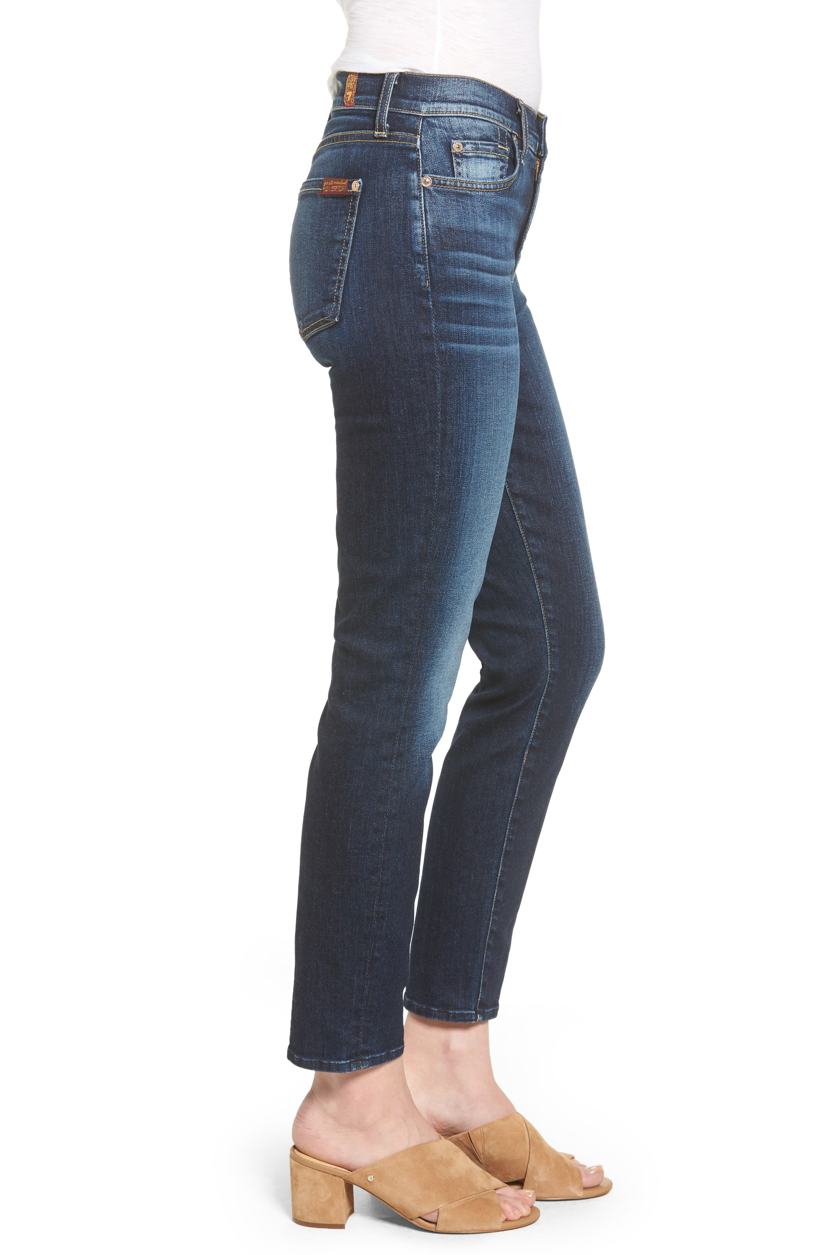 Seven7 Roxanne High Waist Ankle Jeans,                             Alternate thumbnail 3, color,                             401