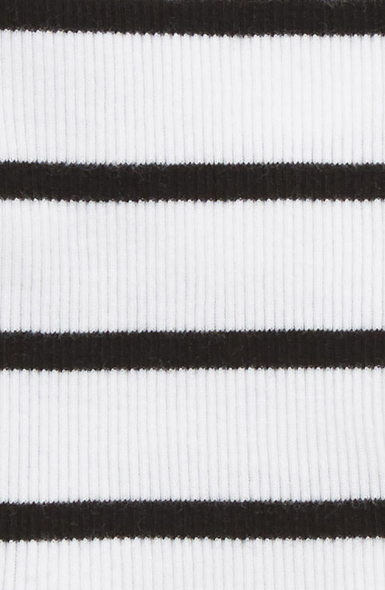 Wrap Top & Footed Pants Set,                             Alternate thumbnail 2, color,                             WHITE- BLACK BRETON STRIPE