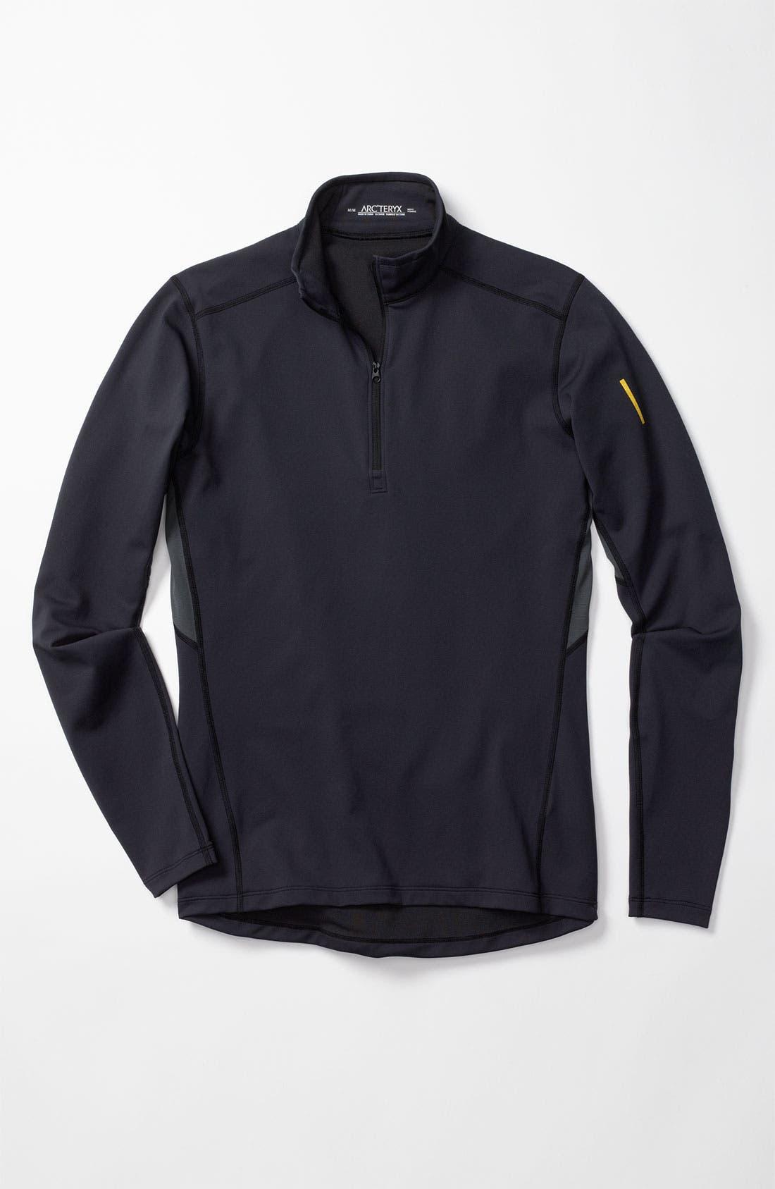 'Phase AR' Half Zip Pullover,                         Main,                         color, 100