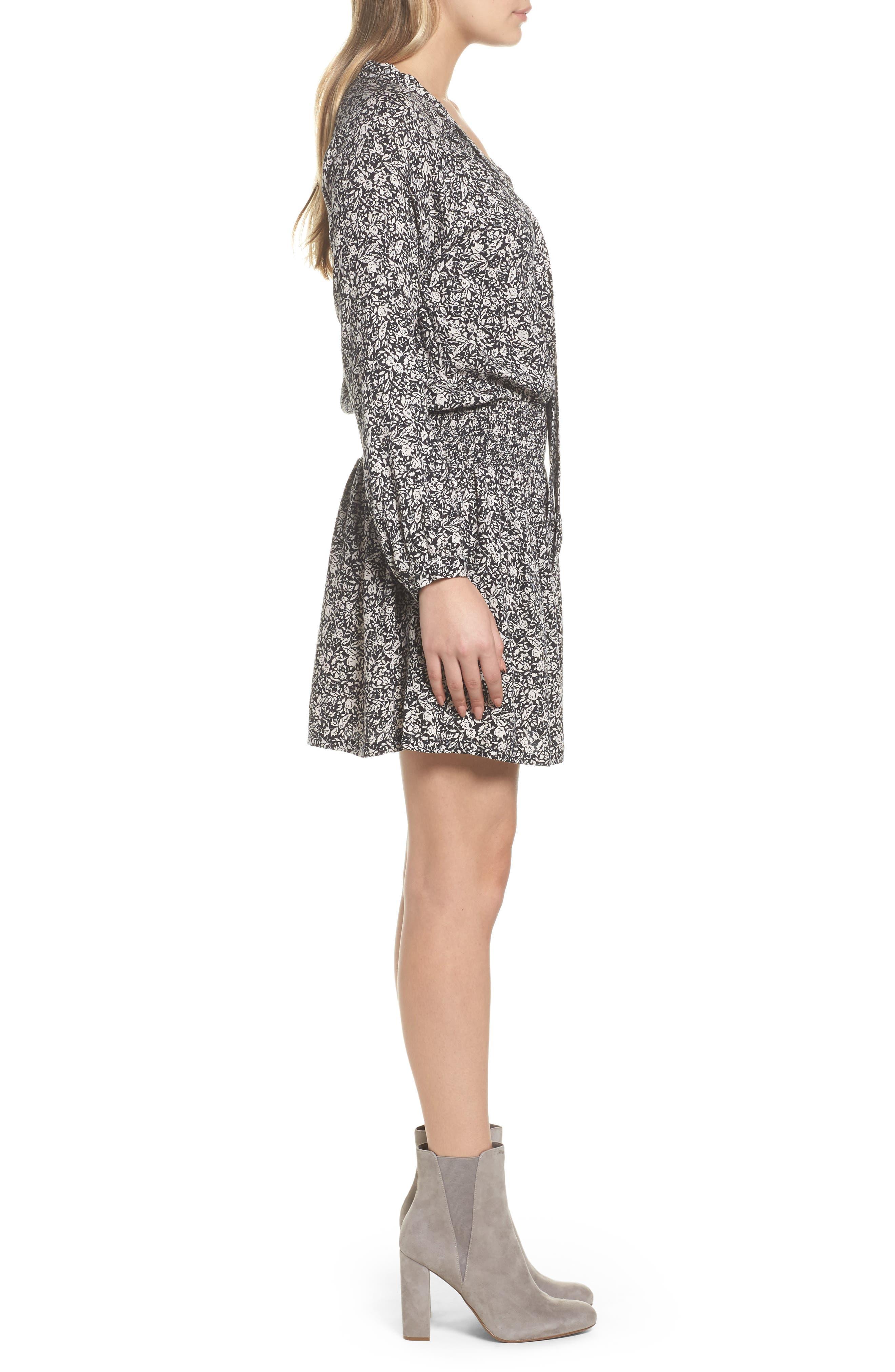 Ivy Blouson Dress,                             Alternate thumbnail 3, color,                             001