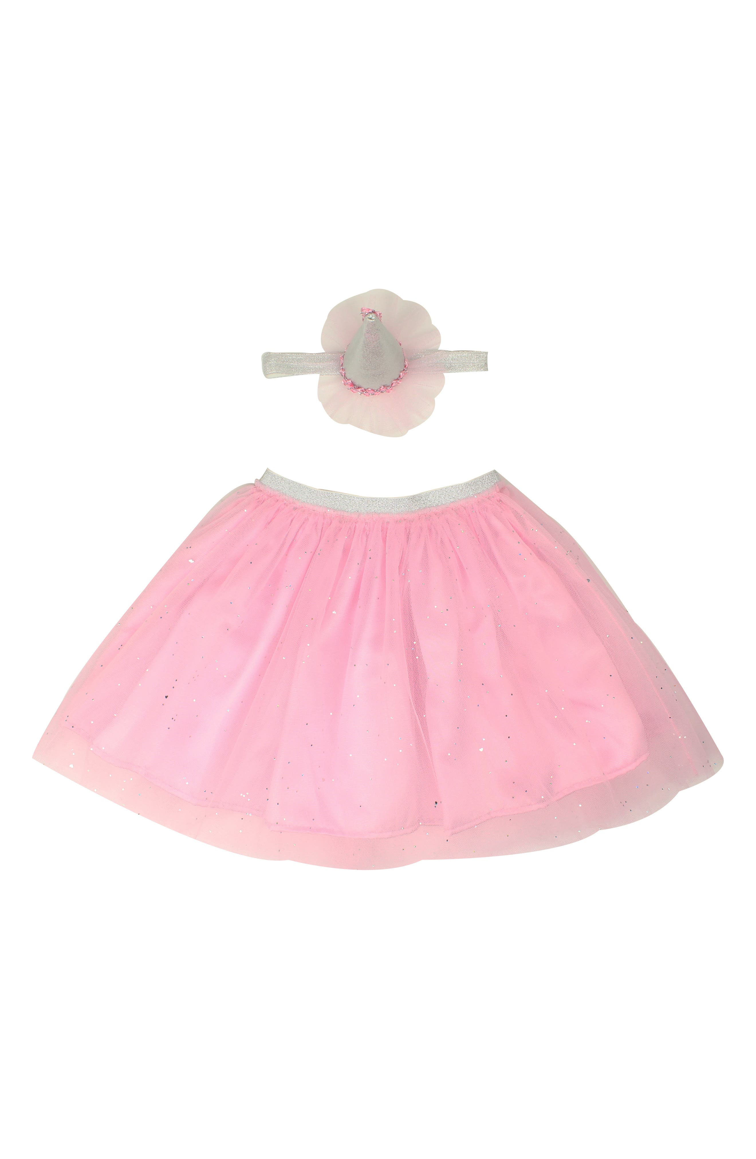 Tutu & Party Hat Headband Set,                         Main,                         color, PINK