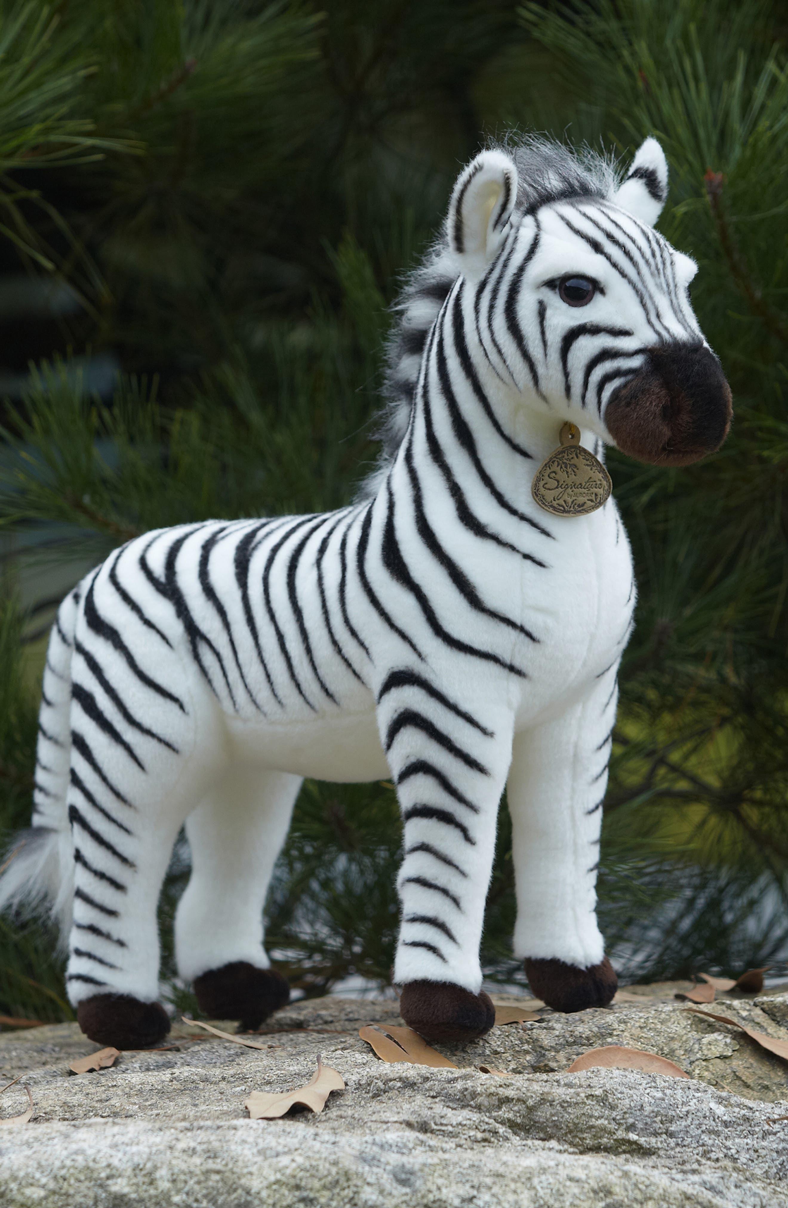 'Grevy's Zebra' Stuffed Animal,                             Alternate thumbnail 4, color,                             BLACK