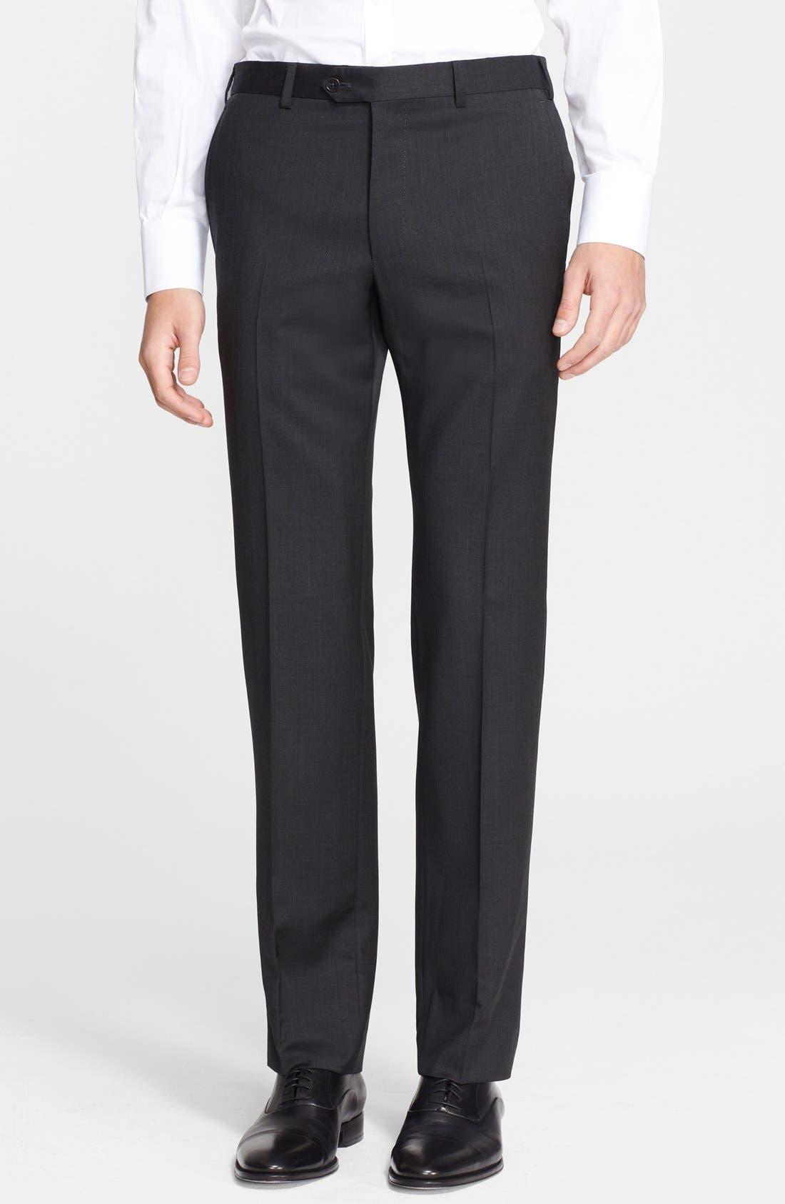 'G-Line' Trim Fit Solid Wool Suit,                             Alternate thumbnail 12, color,                             020
