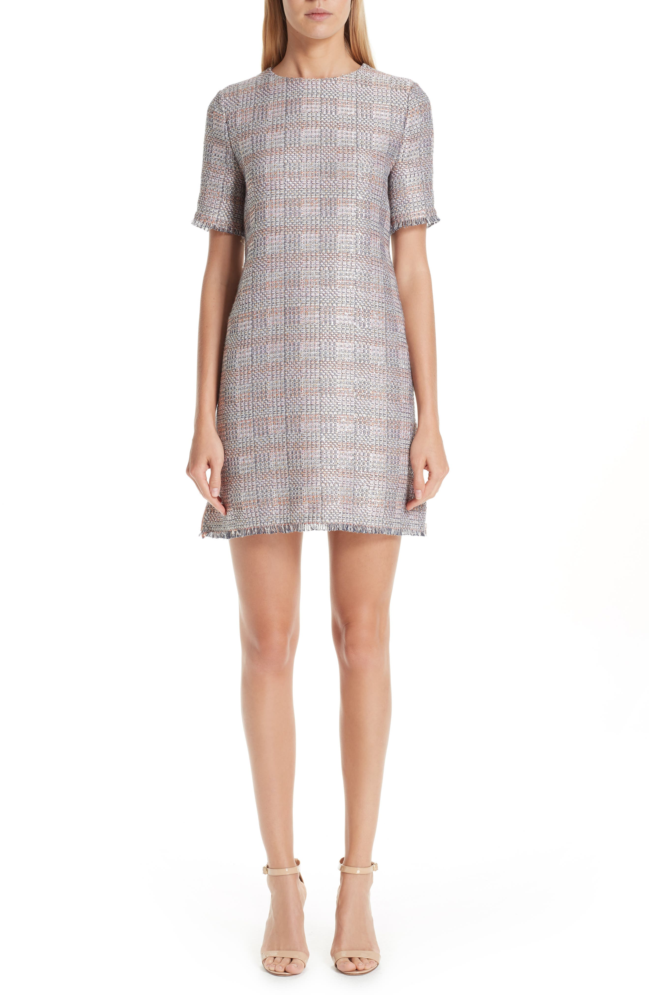 Check Woven Dress,                             Main thumbnail 1, color,                             MULTICOLOR