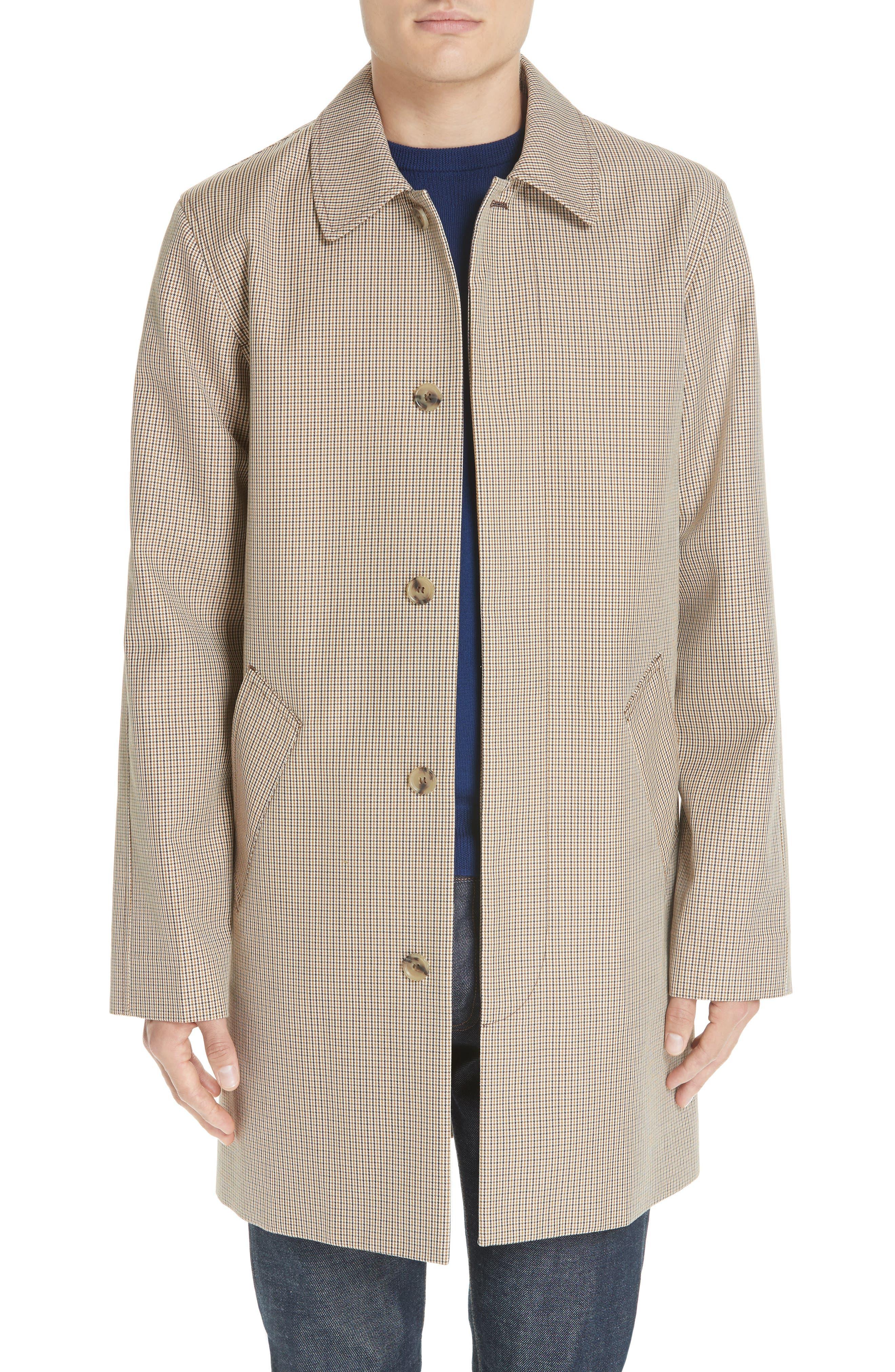 Puppytooth Check Mac Coat,                         Main,                         color, 251