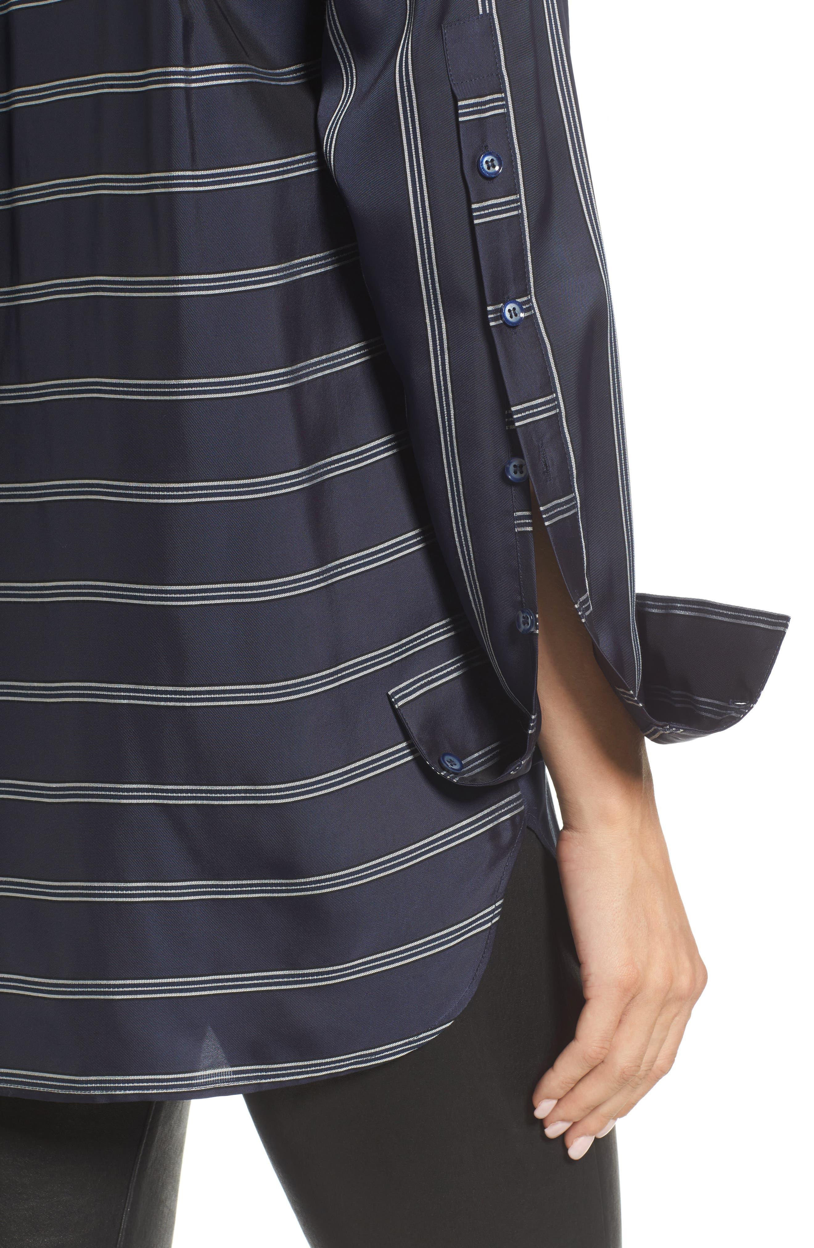 Striped Patch Pocket Shirt,                             Alternate thumbnail 4, color,                             410