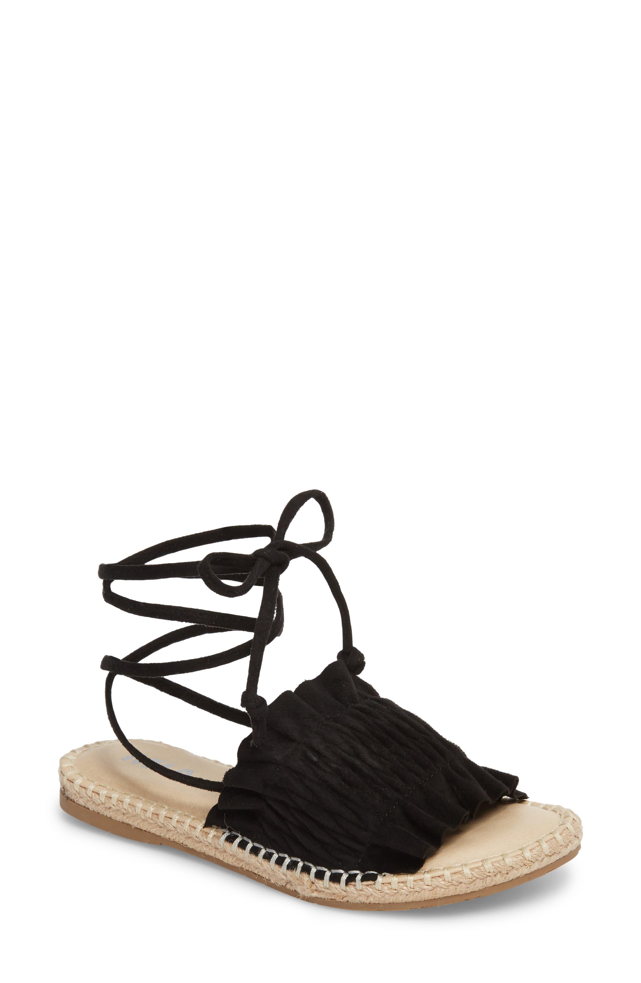 Annalise Sandal,                         Main,                         color, BLACK STRETCH NOVA SUEDE