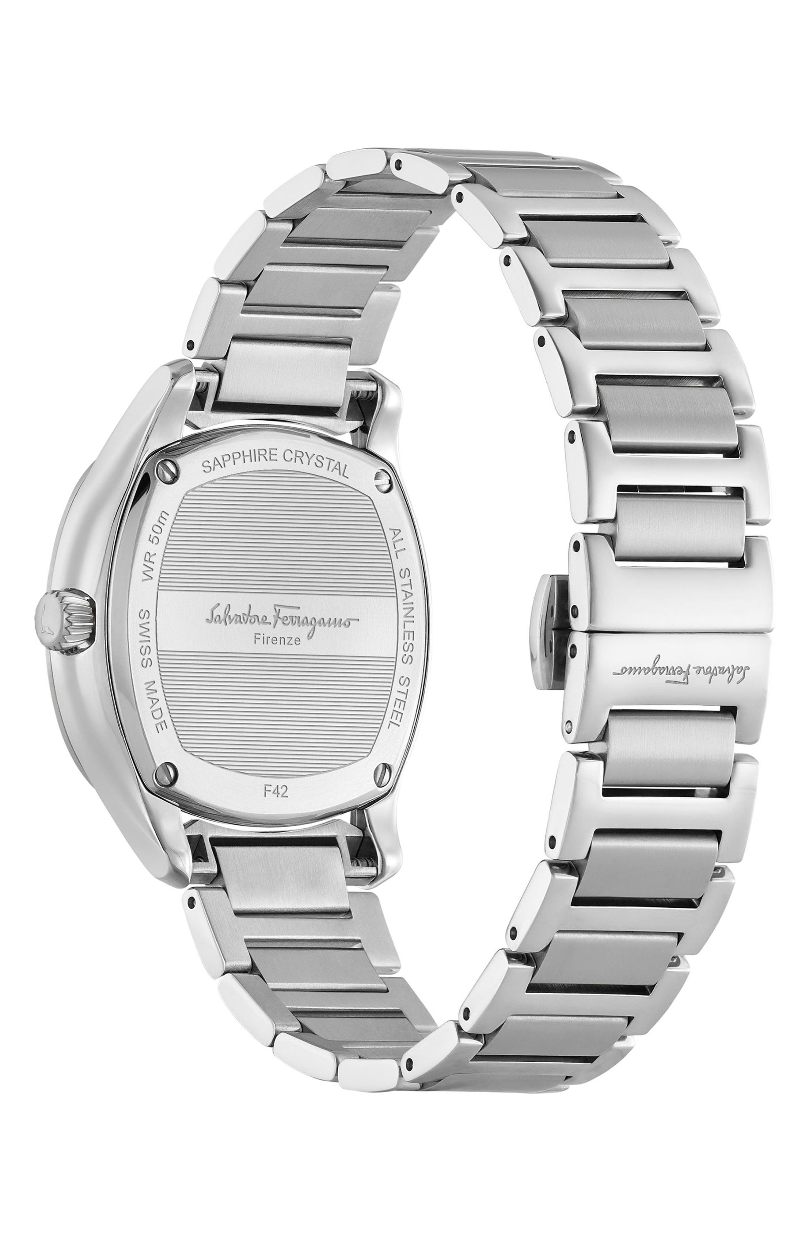 Feroni Bracelet Watch, 36mm,                             Alternate thumbnail 2, color,                             SILVER