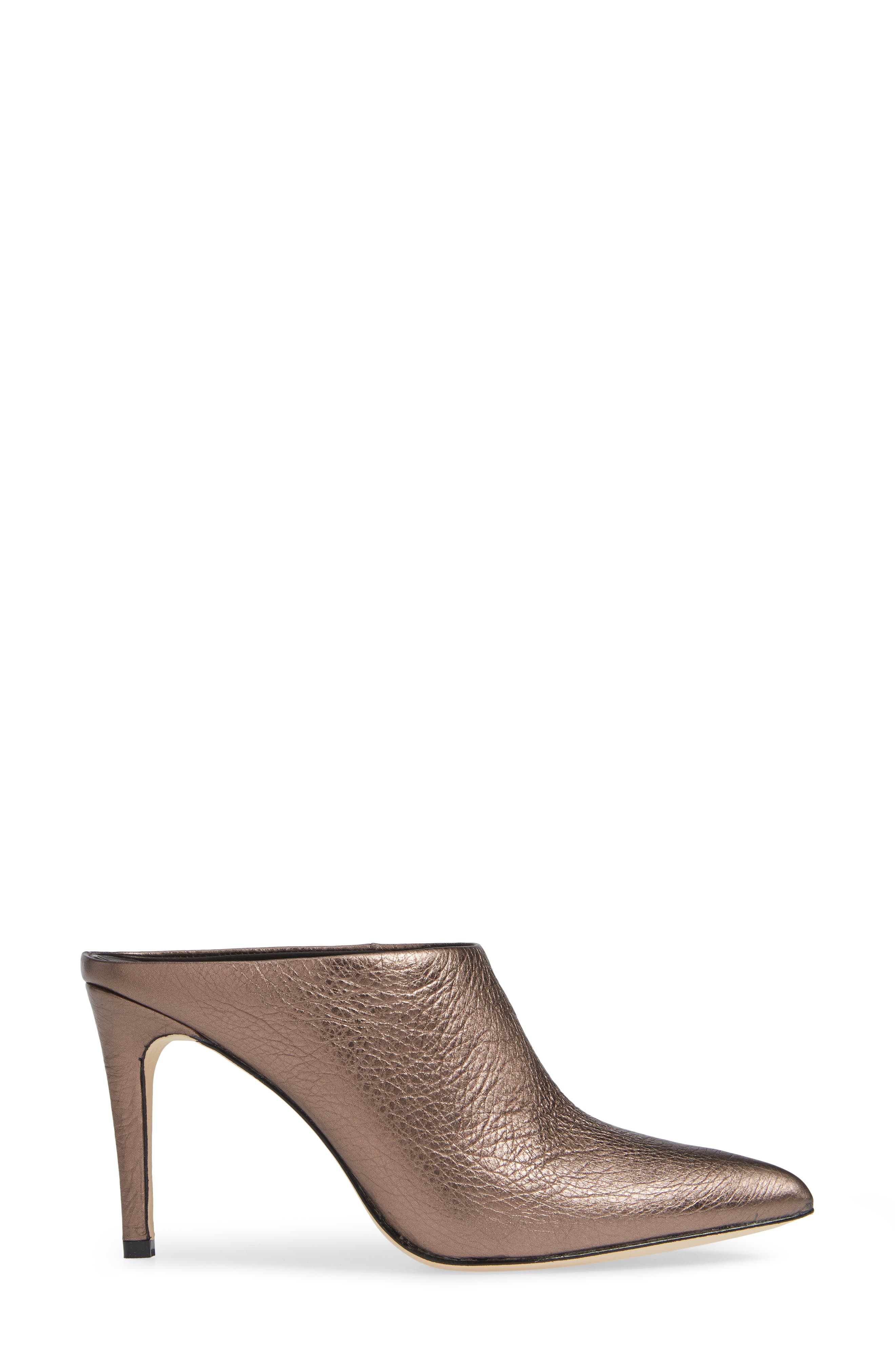 Alinie Pointy Toe Mule,                             Alternate thumbnail 3, color,                             BRONZE