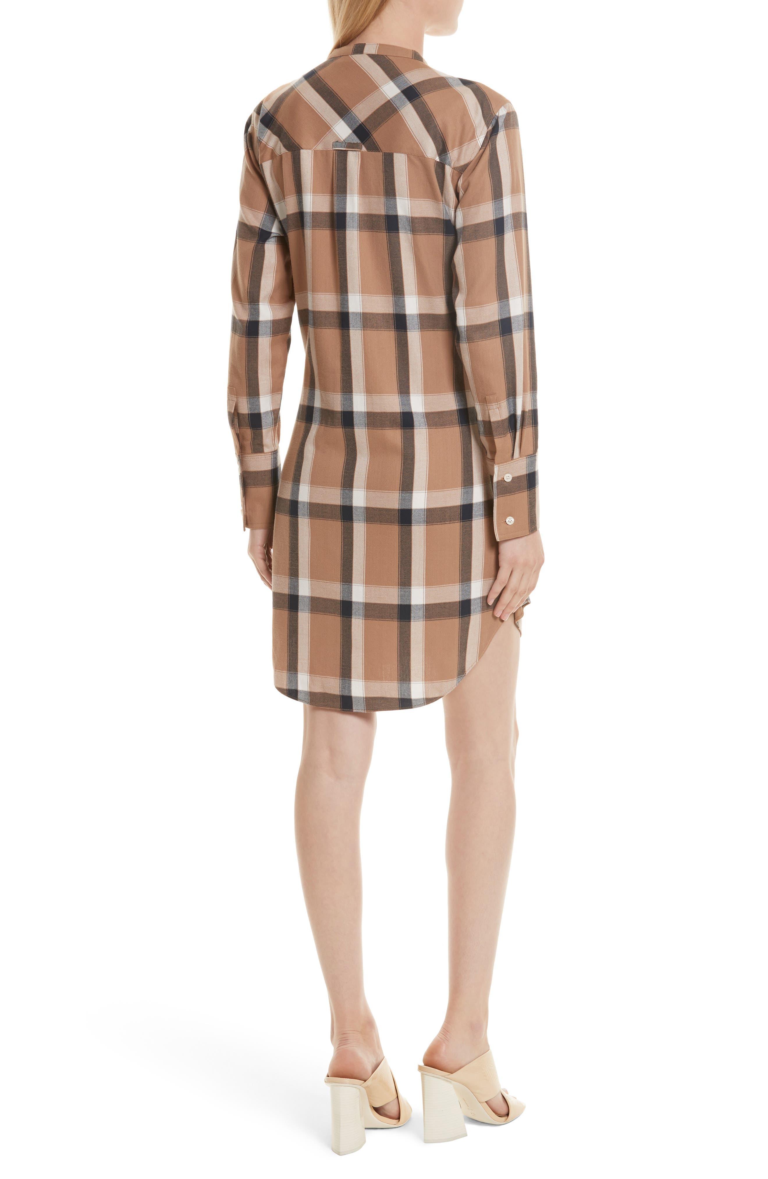 Plaid Tie Waist Dress,                             Alternate thumbnail 2, color,                             200
