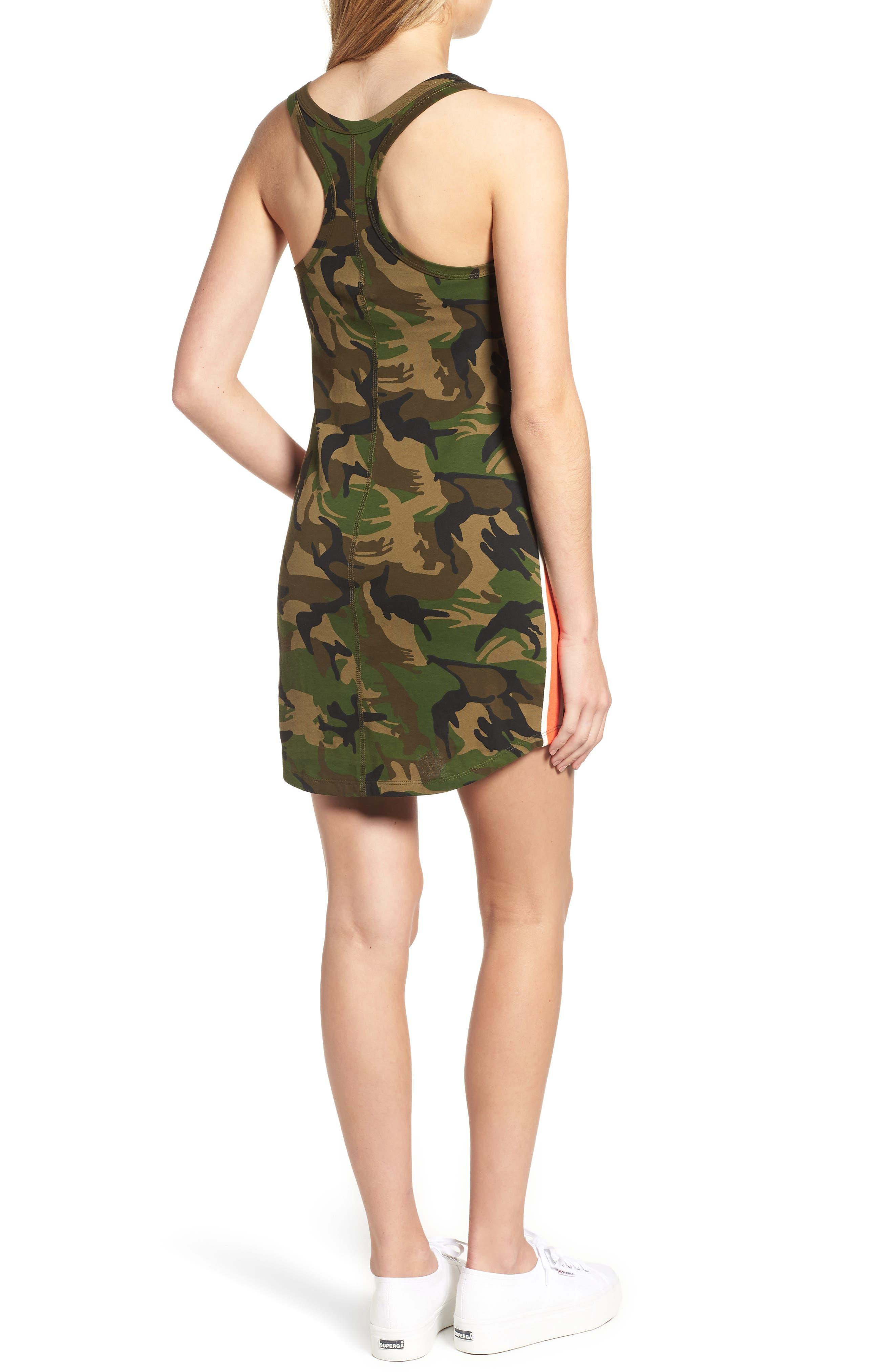 Camo Print Tank Dress,                             Alternate thumbnail 2, color,                             ARMY CAMO