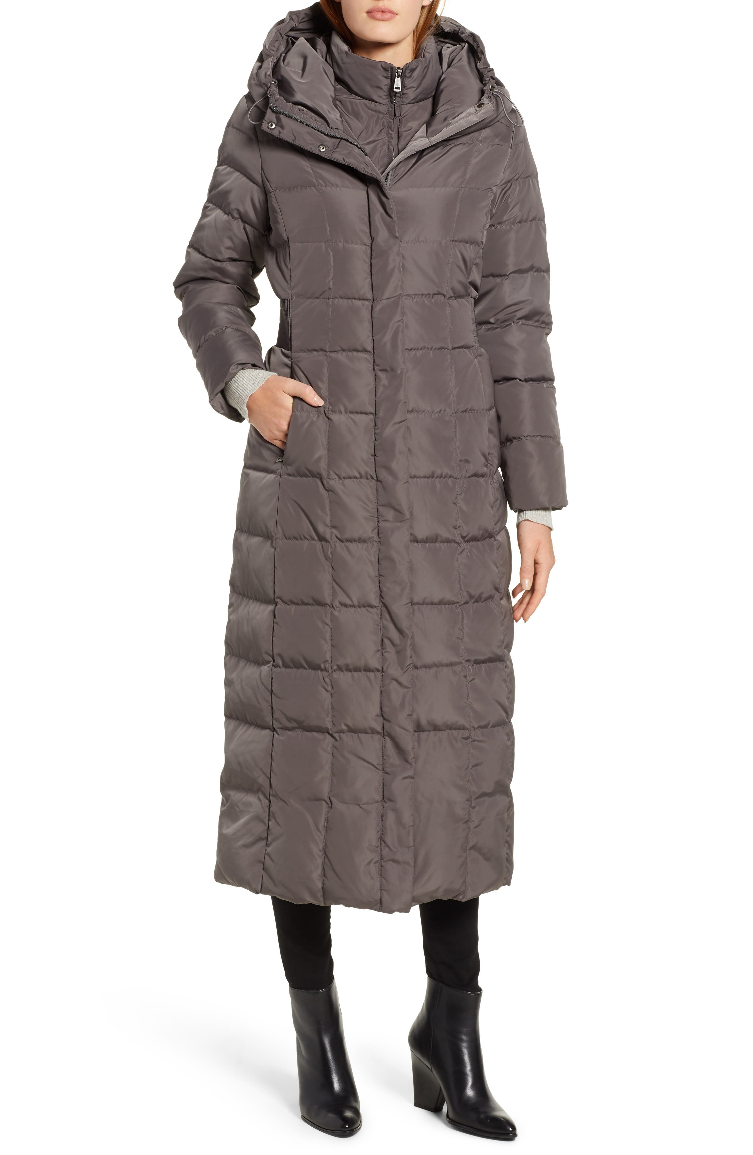 Cole Haan Quilted Coat with Inner Bib,                             Alternate thumbnail 4, color,                             024