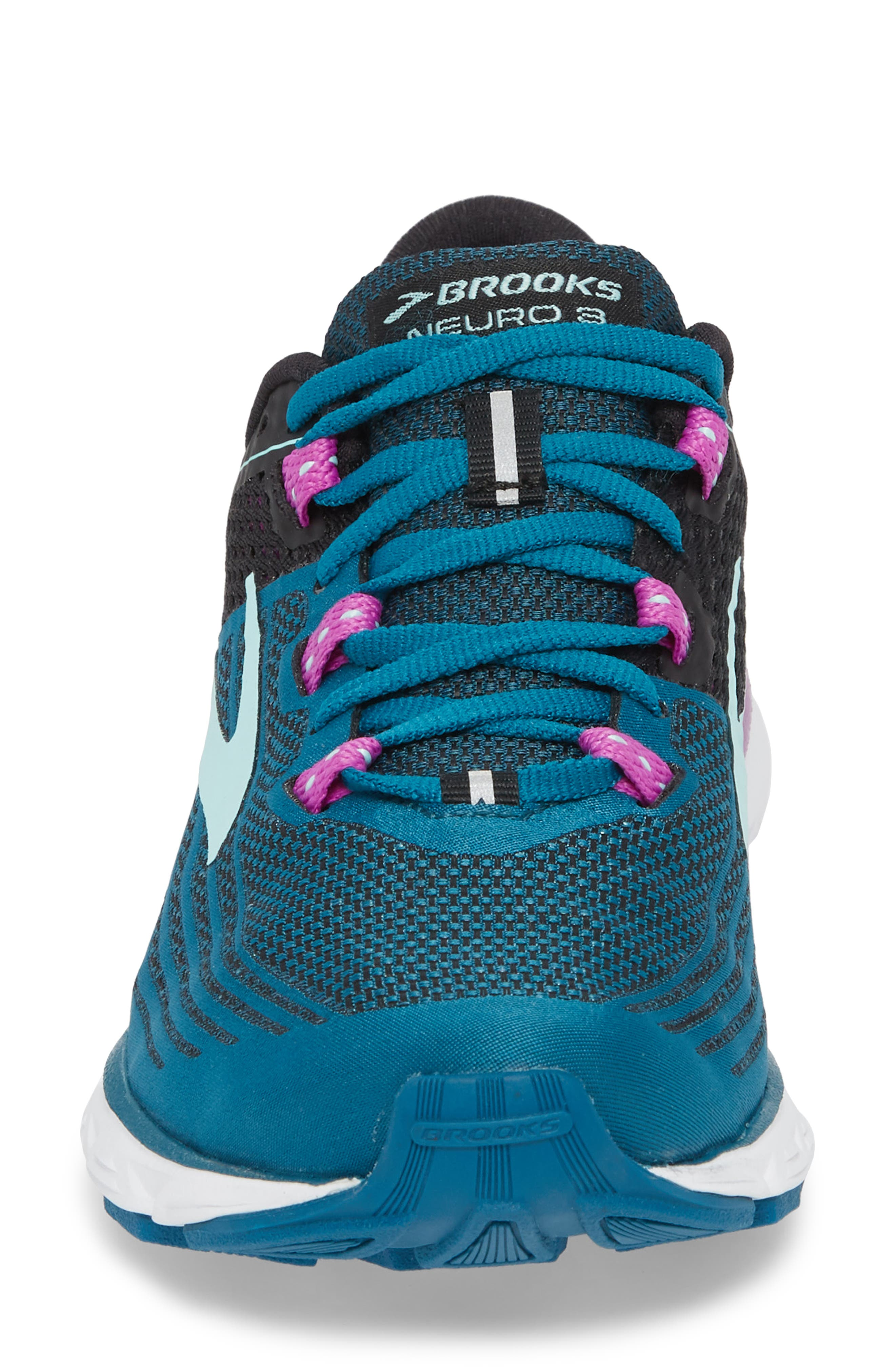 Neuro 3 Running Shoe,                             Alternate thumbnail 4, color,                             LAGOON/ BLACK/ PURPLE