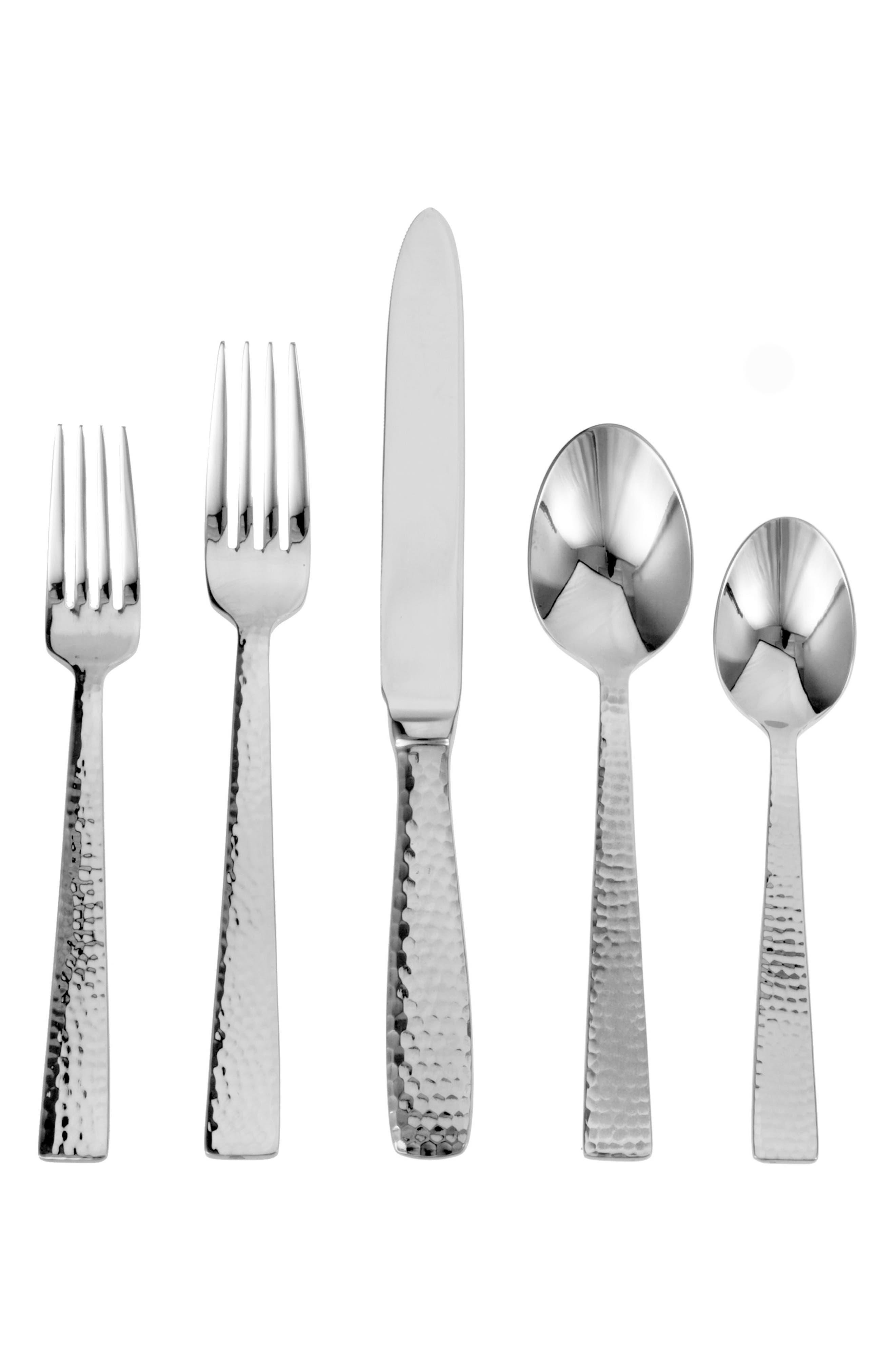 Argentieri Martello 45-Piece Stainless Steel Flatware Set,                             Main thumbnail 1, color,                             MARTELLO