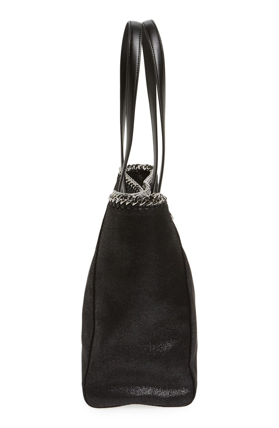 'Falabella - Shaggy Deer' Faux Leather Tote,                             Alternate thumbnail 6, color,                             001