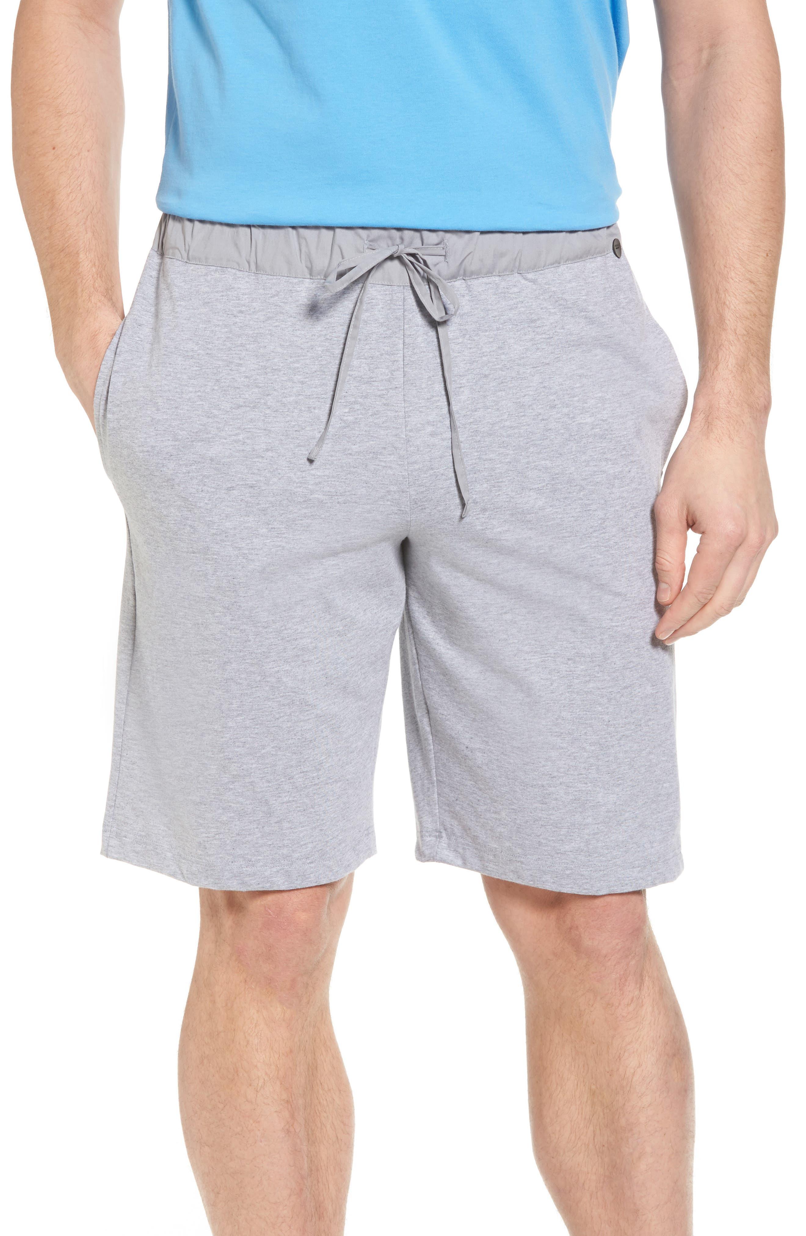 Night & Day Knit Shorts,                         Main,                         color, SILVER MELANGE